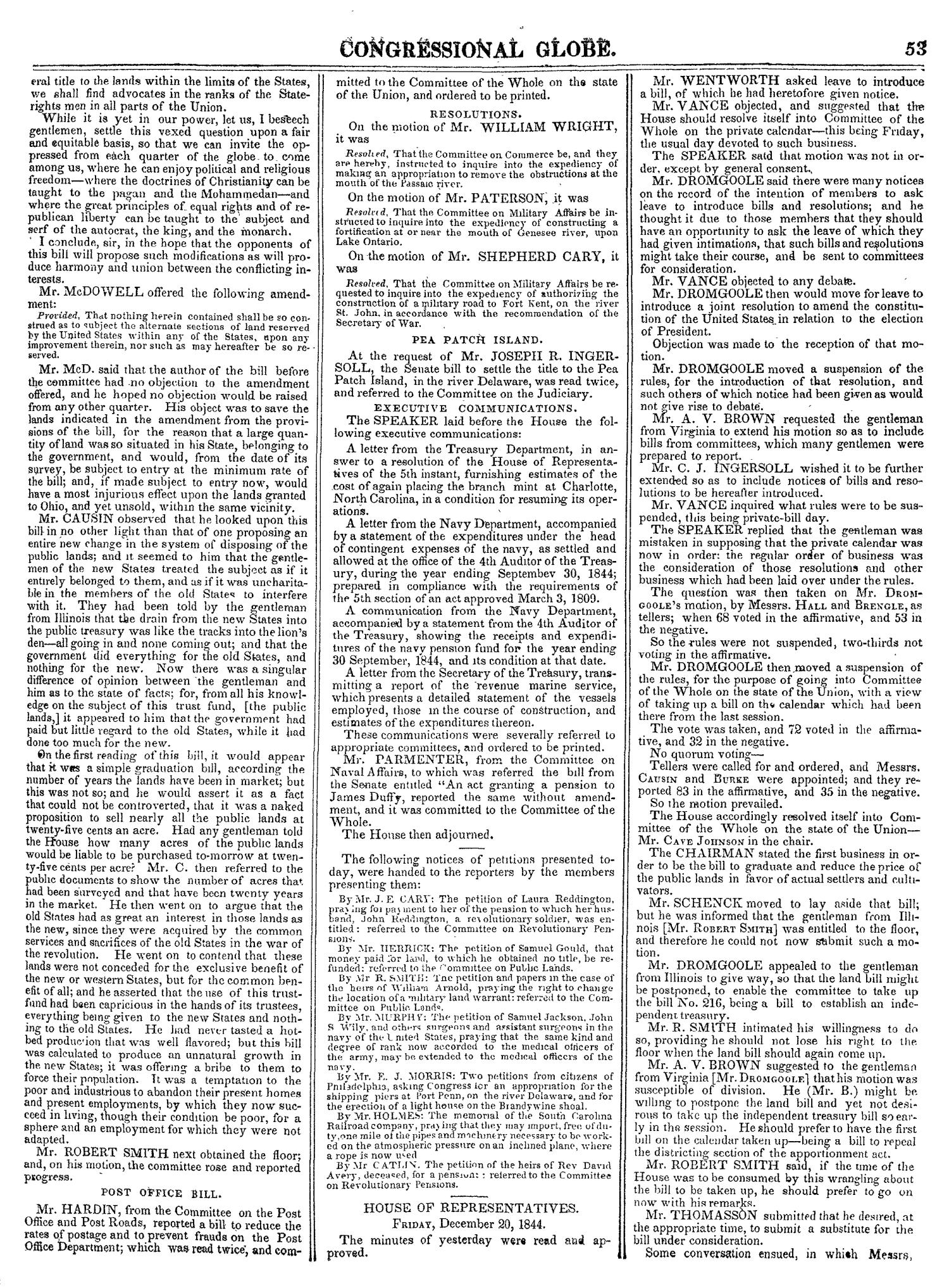 The Congressional Globe, Volume 14: Twenty-Eighth Congress, Second Session                                                                                                      53