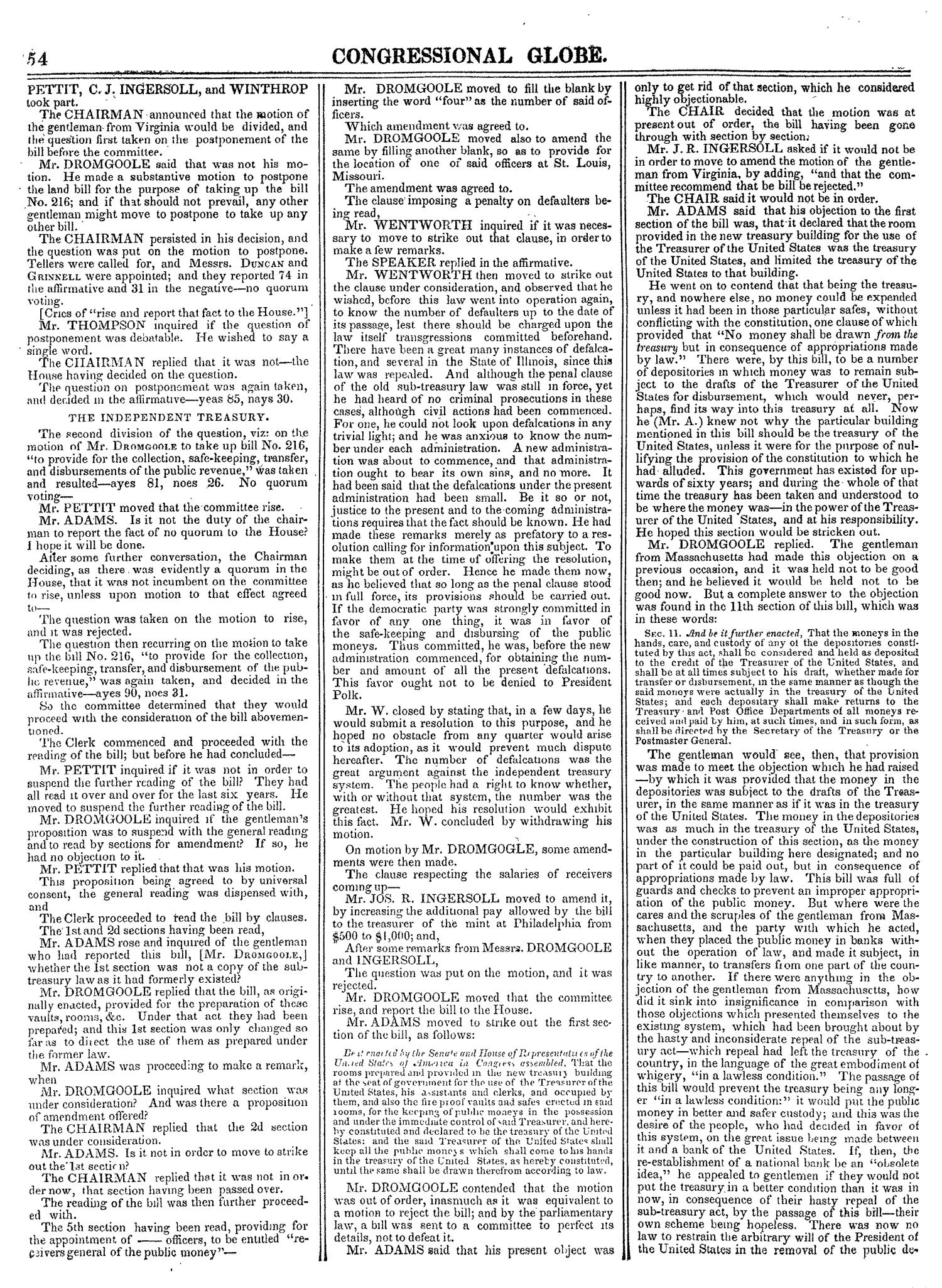 The Congressional Globe, Volume 14: Twenty-Eighth Congress, Second Session                                                                                                      54