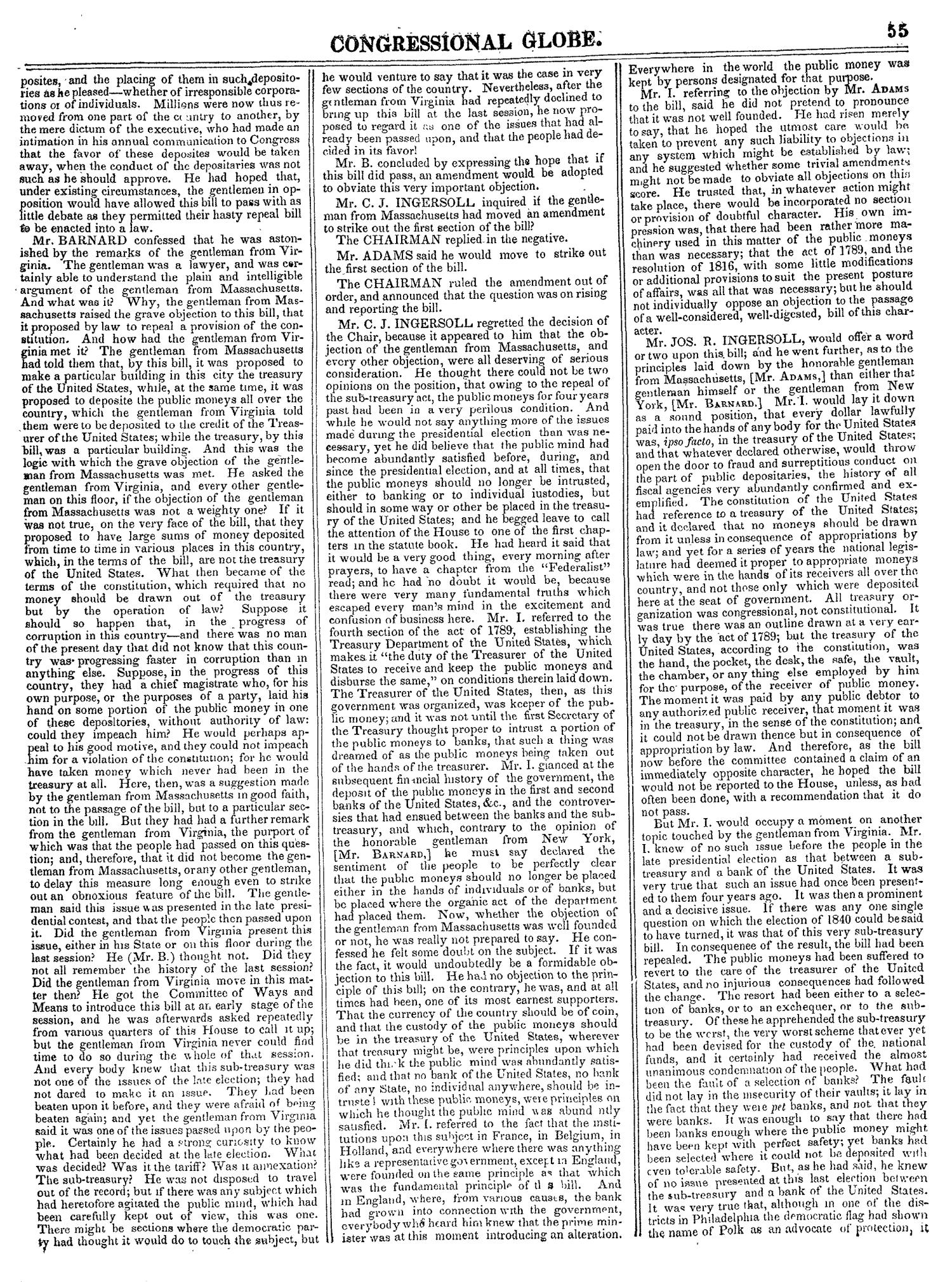 The Congressional Globe, Volume 14: Twenty-Eighth Congress, Second Session                                                                                                      55