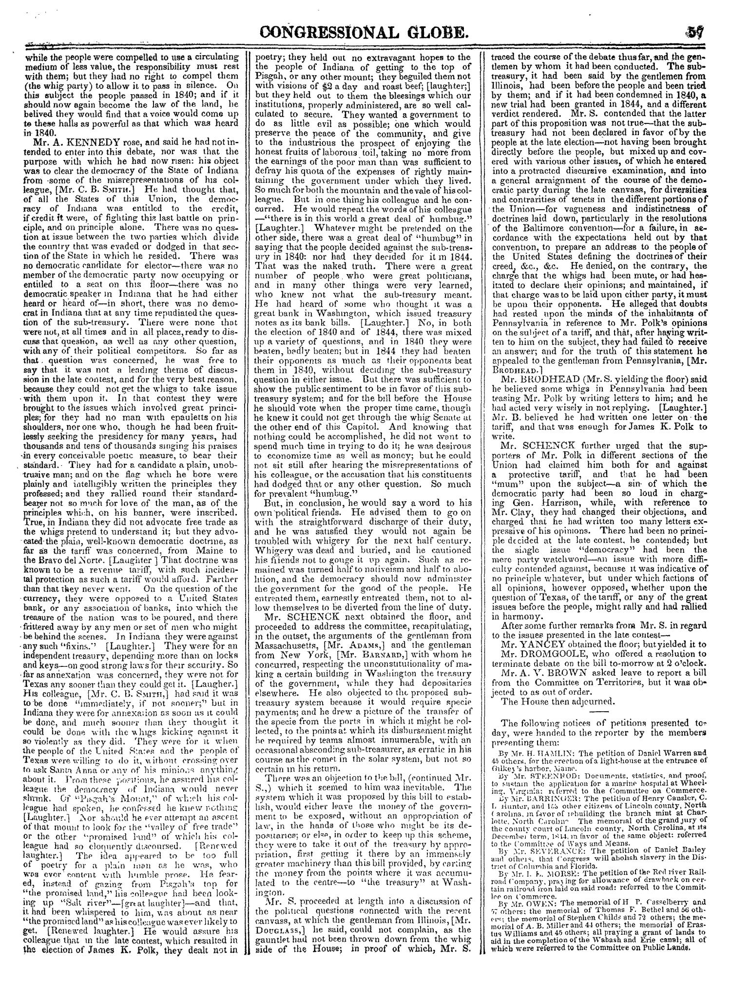 The Congressional Globe, Volume 14: Twenty-Eighth Congress, Second Session                                                                                                      57