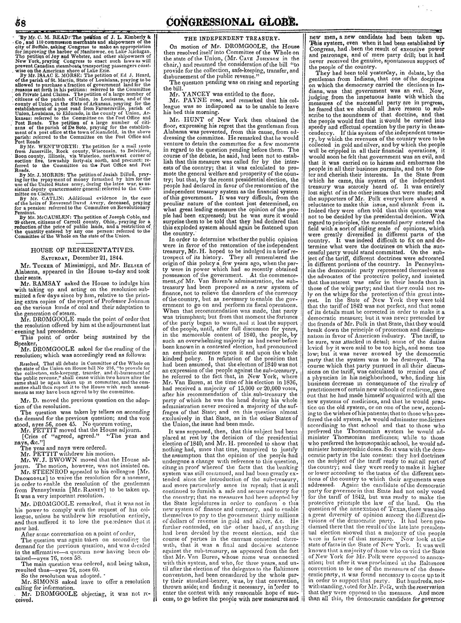 The Congressional Globe, Volume 14: Twenty-Eighth Congress, Second Session                                                                                                      58