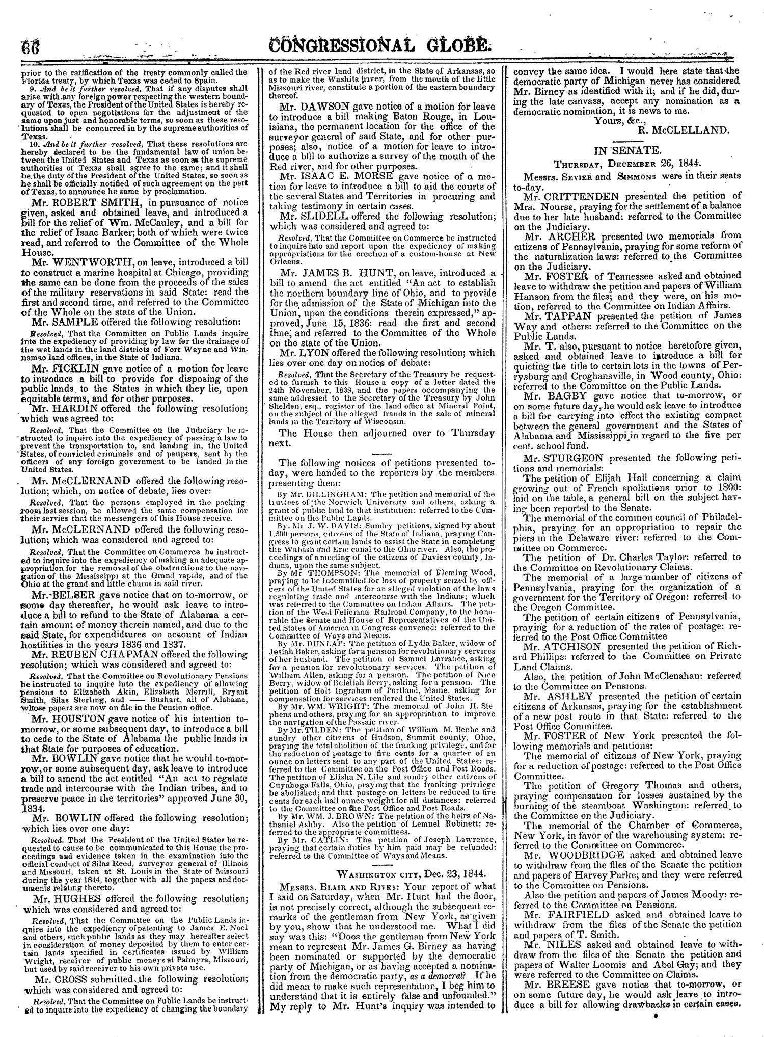 The Congressional Globe, Volume 14: Twenty-Eighth Congress, Second Session                                                                                                      66