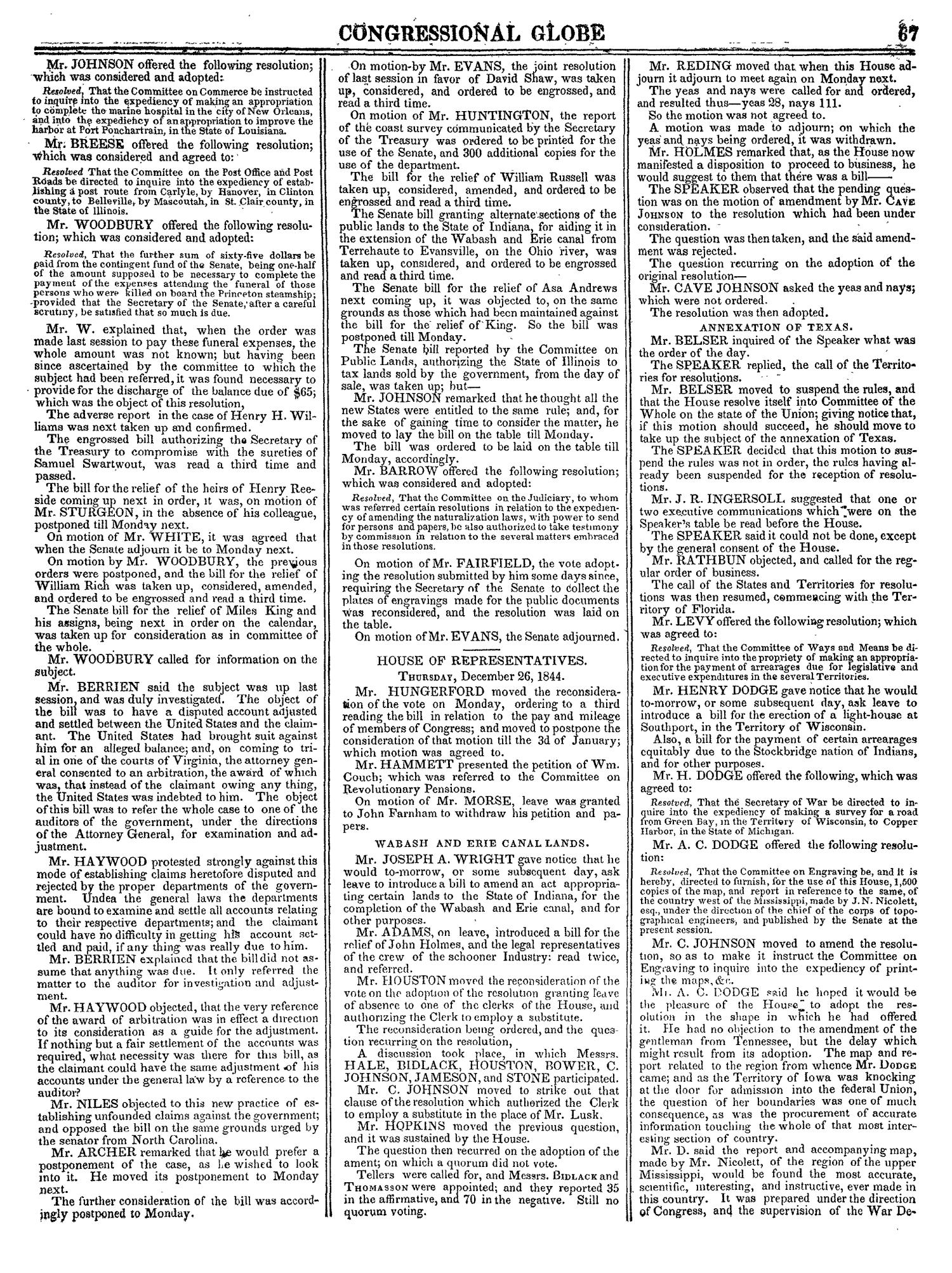 The Congressional Globe, Volume 14: Twenty-Eighth Congress, Second Session                                                                                                      67