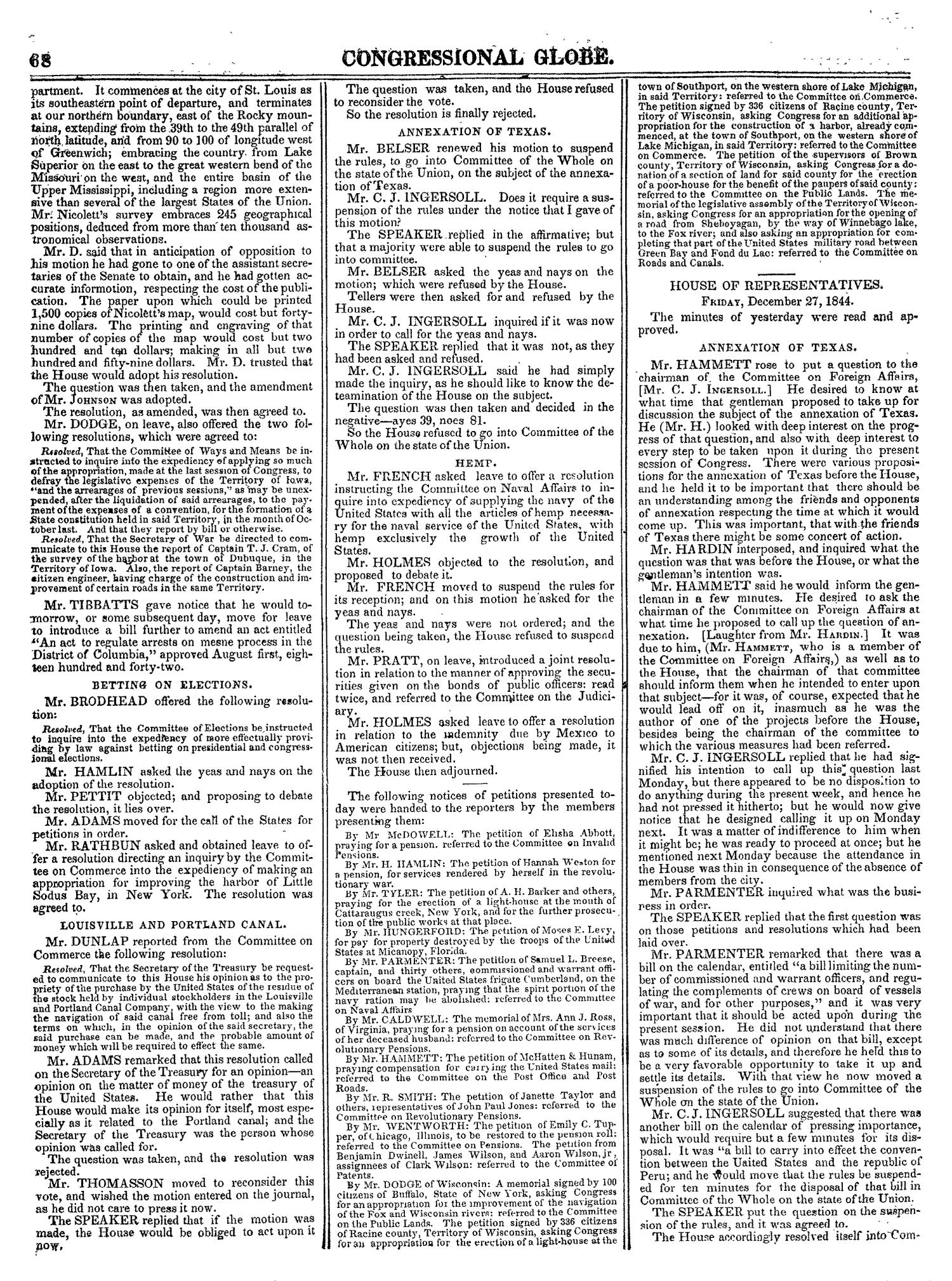The Congressional Globe, Volume 14: Twenty-Eighth Congress, Second Session                                                                                                      68