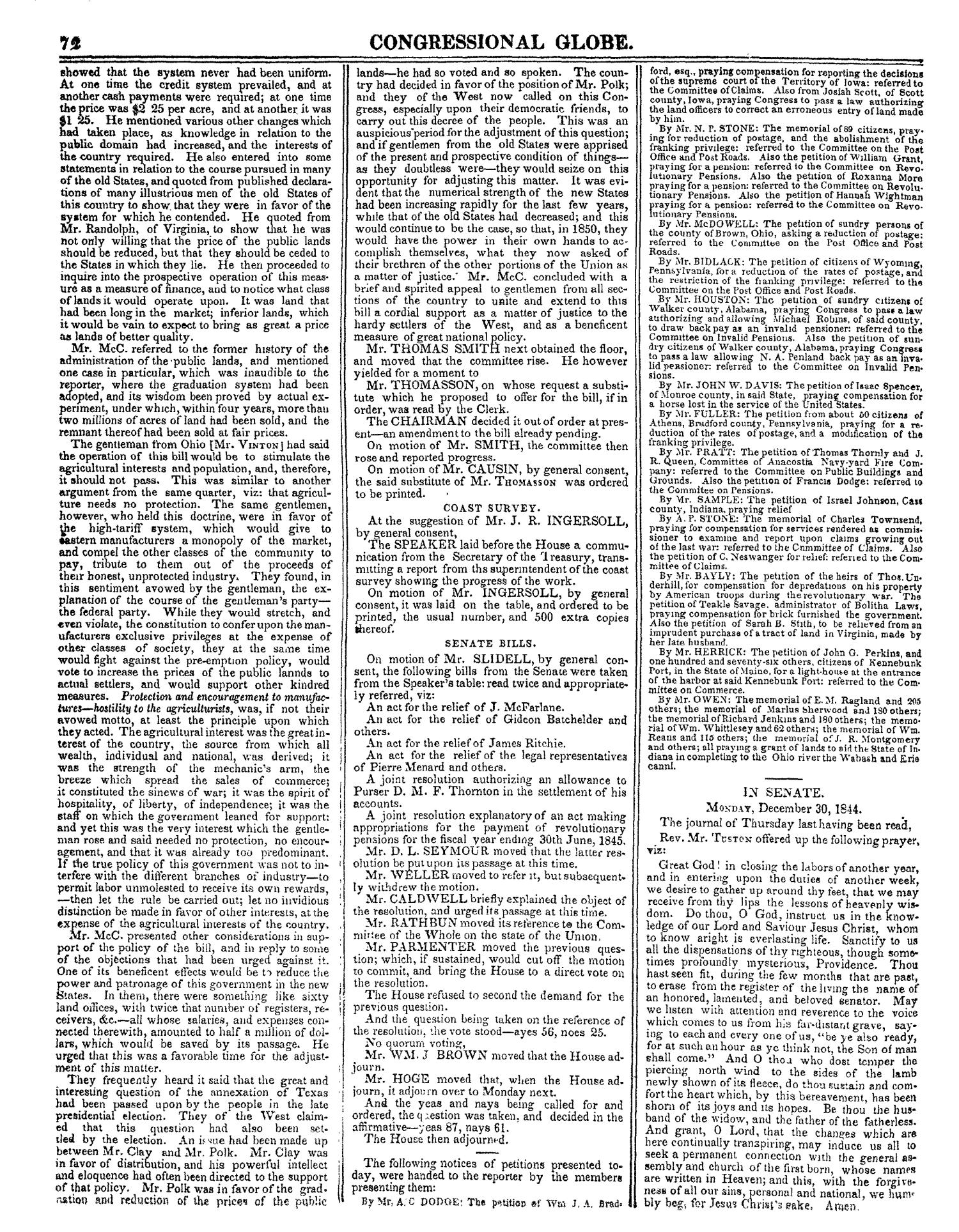 The Congressional Globe, Volume 14: Twenty-Eighth Congress, Second Session                                                                                                      72
