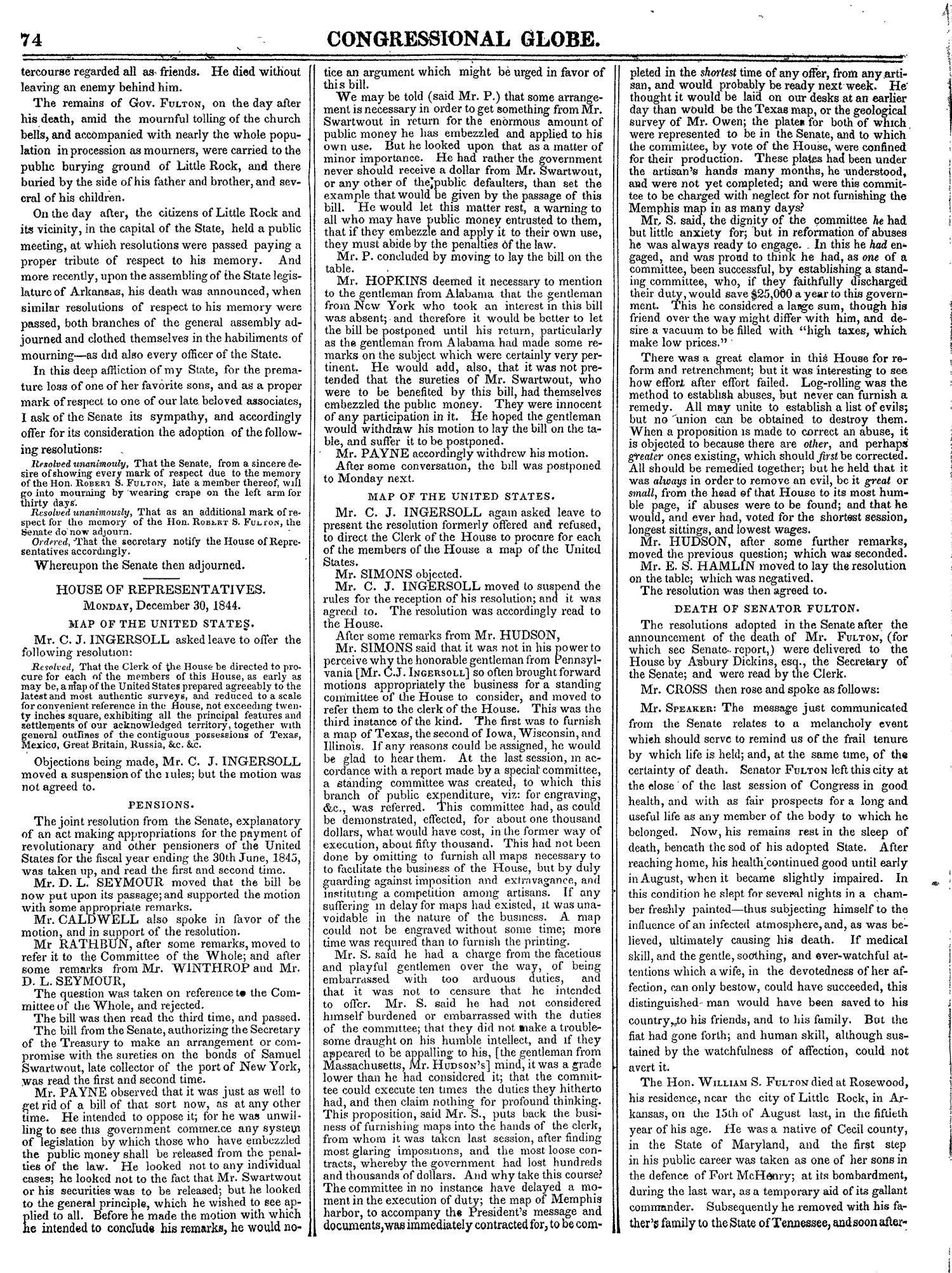 The Congressional Globe, Volume 14: Twenty-Eighth Congress, Second Session                                                                                                      74