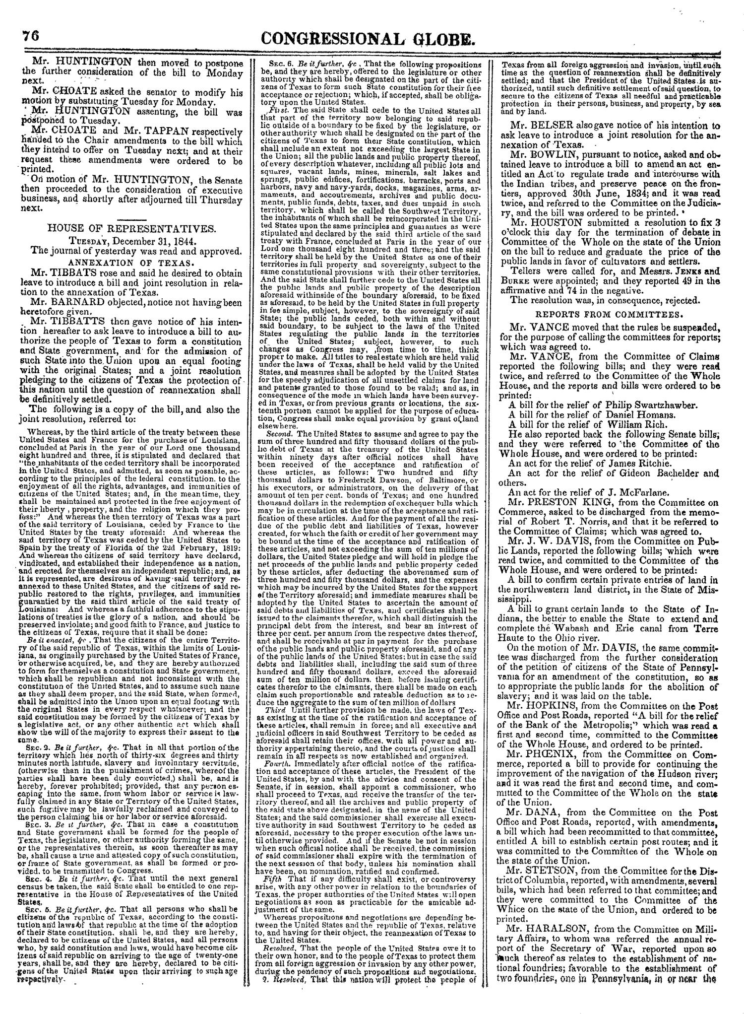 The Congressional Globe, Volume 14: Twenty-Eighth Congress, Second Session                                                                                                      76