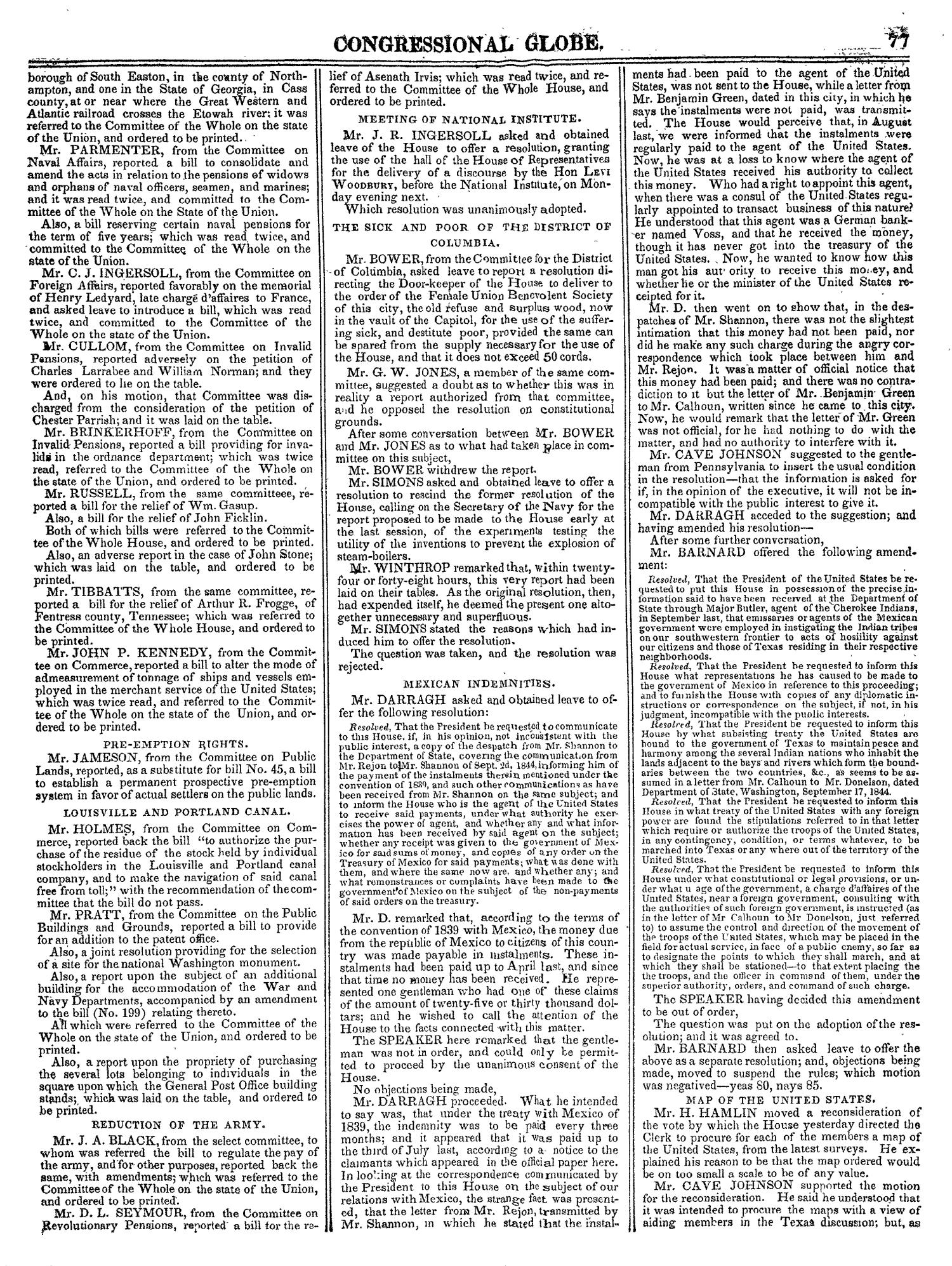 The Congressional Globe, Volume 14: Twenty-Eighth Congress, Second Session                                                                                                      77