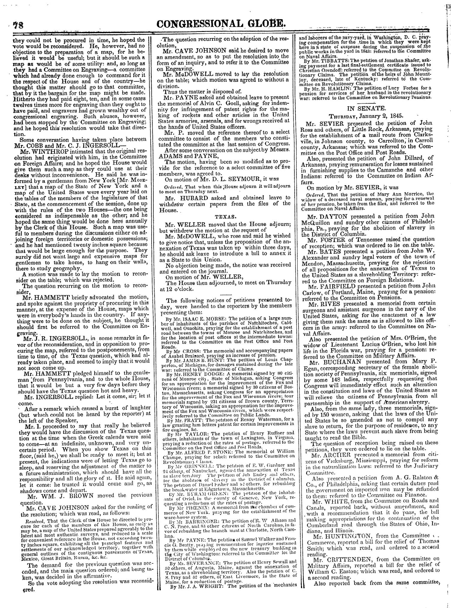 The Congressional Globe, Volume 14: Twenty-Eighth Congress, Second Session                                                                                                      78
