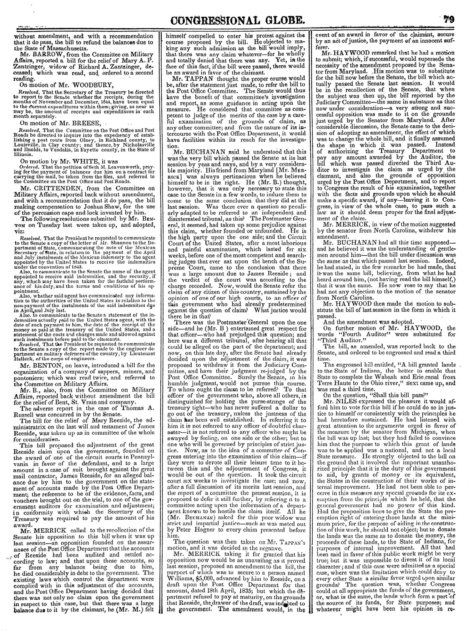 The Congressional Globe, Volume 14: Twenty-Eighth Congress, Second Session                                                                                                      79