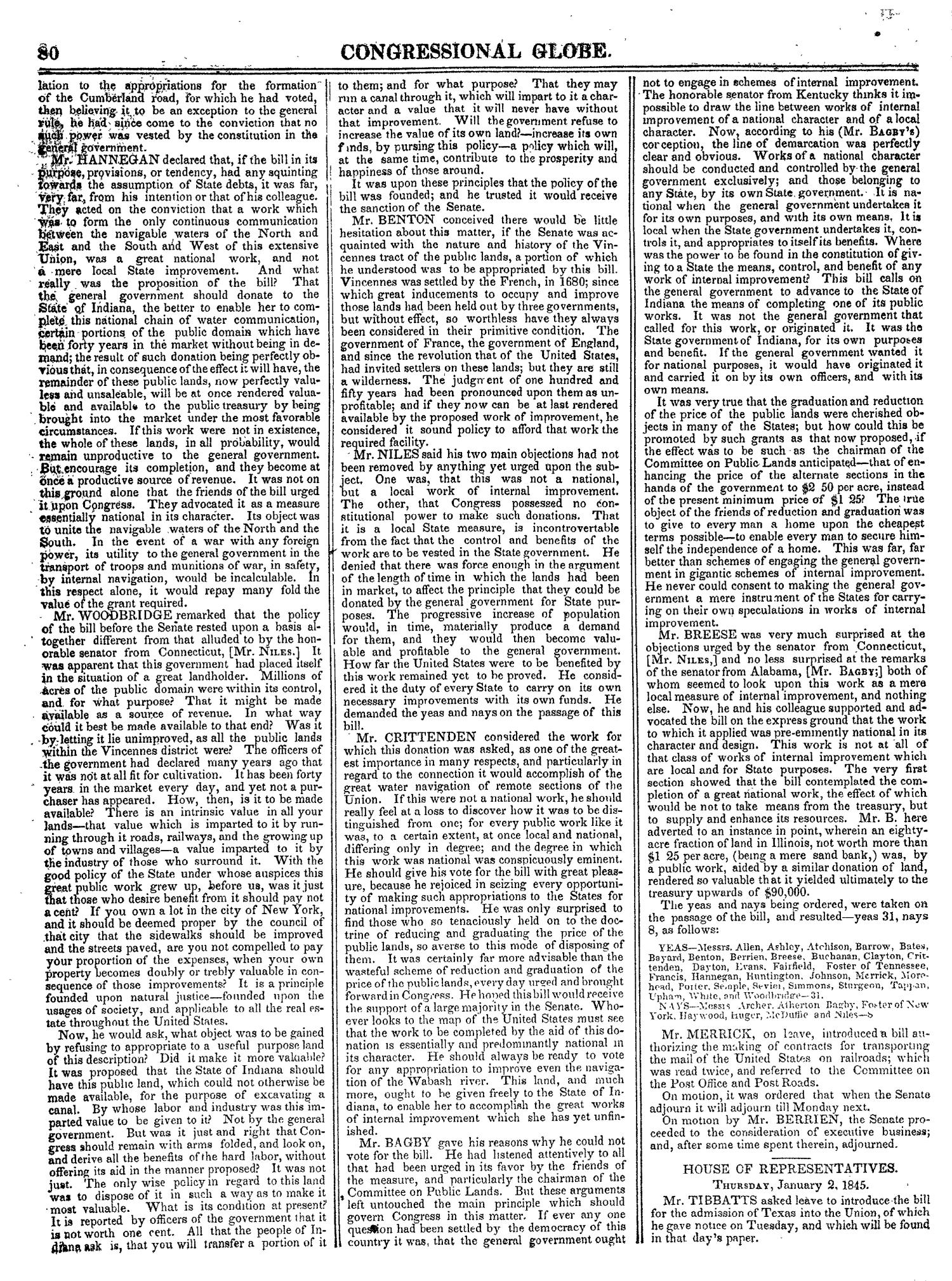 The Congressional Globe, Volume 14: Twenty-Eighth Congress, Second Session                                                                                                      80