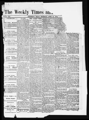 The Weekly Times and Republican (Jefferson, Tex.), Vol. 21, Ed. 1 Thursday, April 21, 1870