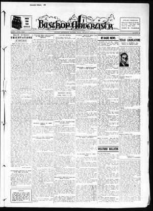 Primary view of object titled 'Bastrop Advertiser (Bastrop, Tex.), Vol. 85, No. 43, Ed. 1 Thursday, January 12, 1939'.