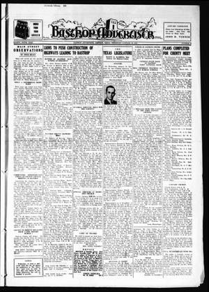 Primary view of object titled 'Bastrop Advertiser (Bastrop, Tex.), Vol. 85, No. 45, Ed. 1 Thursday, January 26, 1939'.