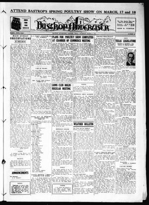 Primary view of object titled 'Bastrop Advertiser (Bastrop, Tex.), Vol. 85, No. 51, Ed. 1 Thursday, March 9, 1939'.