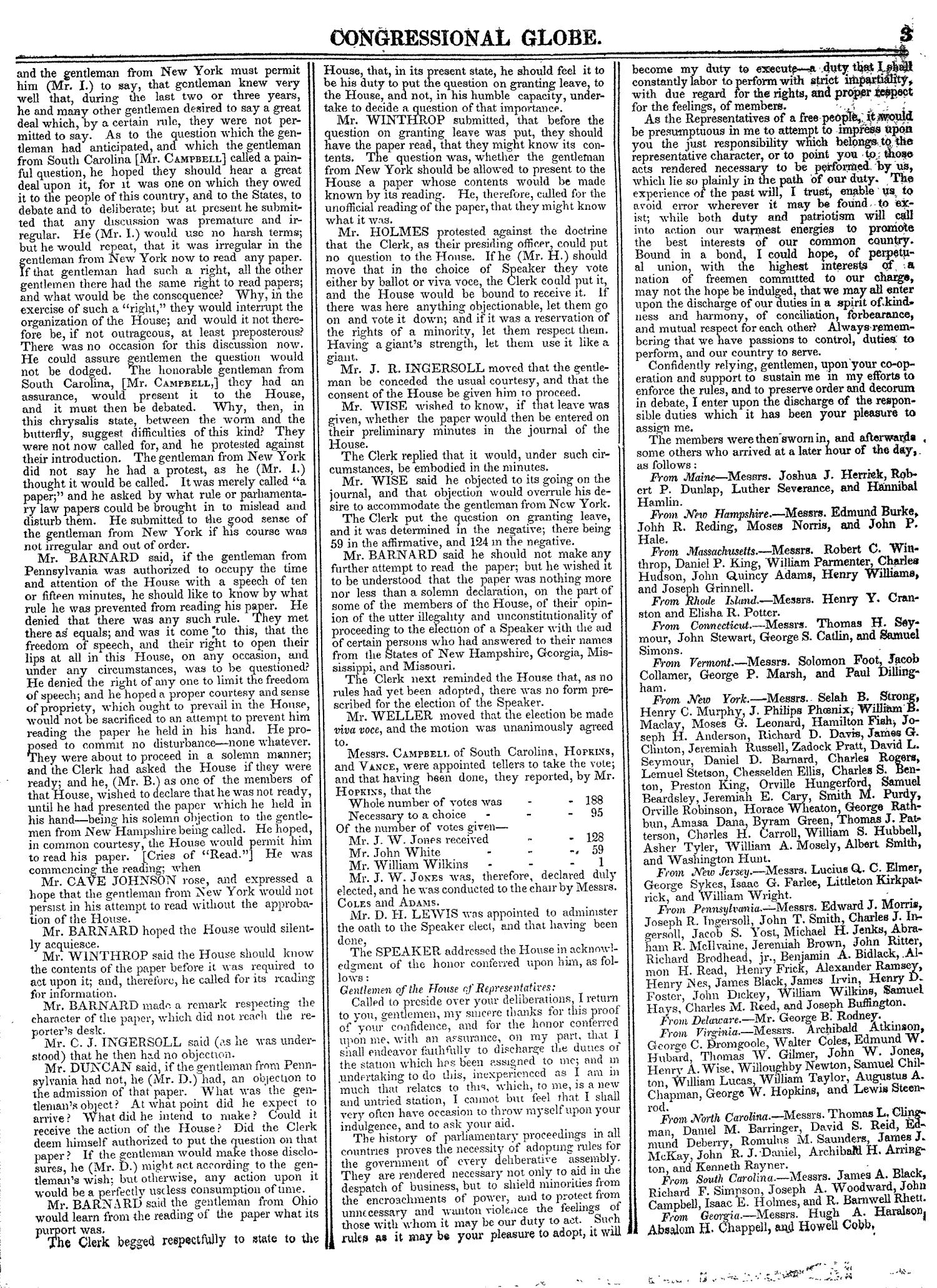 The Congressional Globe, Volume 13, Part 1: Twenty-Eighth Congress, First Session                                                                                                      3