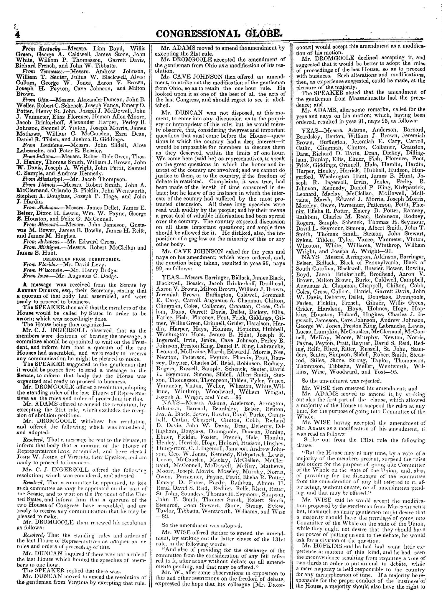The Congressional Globe, Volume 13, Part 1: Twenty-Eighth Congress, First Session                                                                                                      4