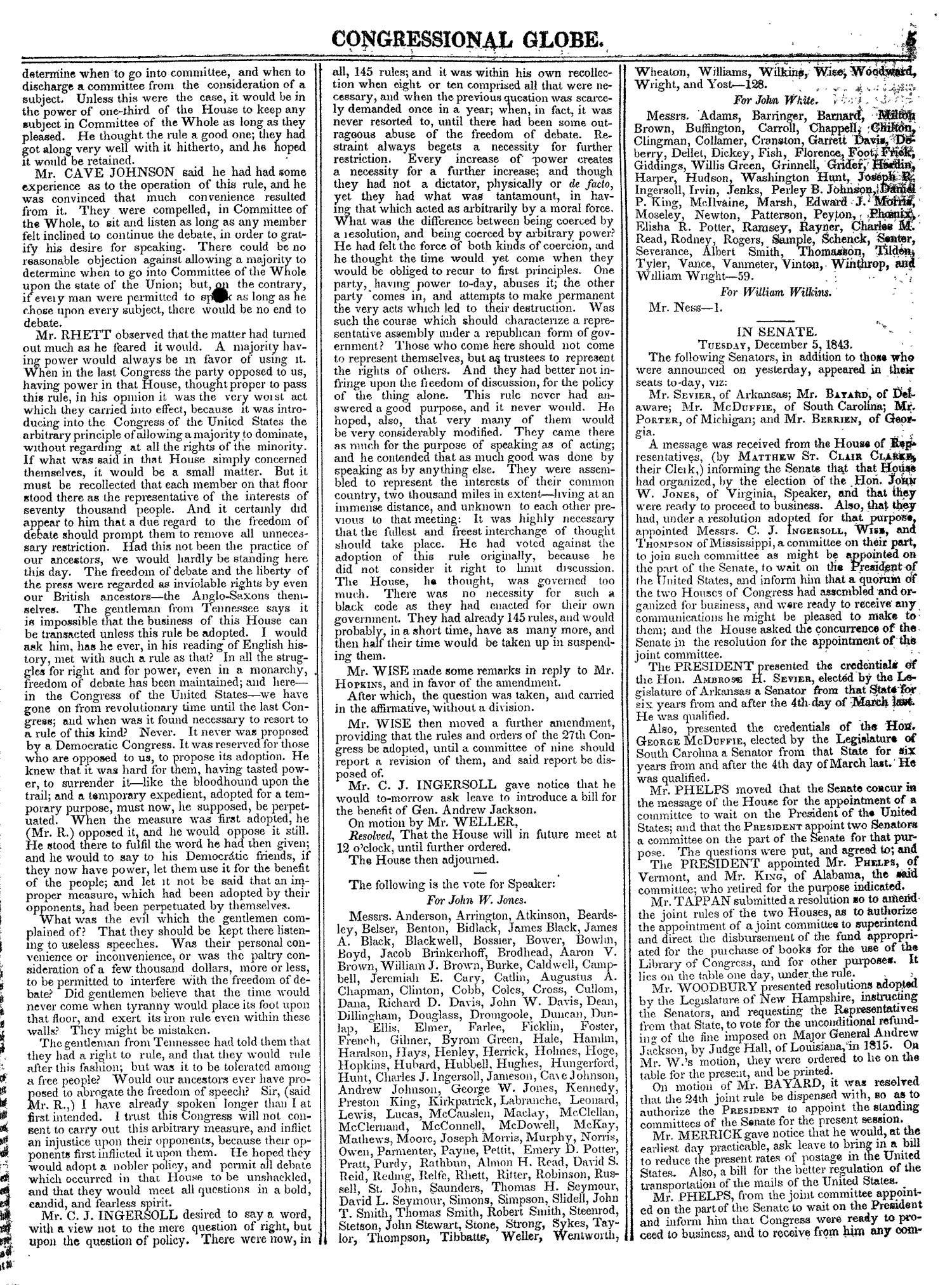 The Congressional Globe, Volume 13, Part 1: Twenty-Eighth Congress, First Session                                                                                                      5