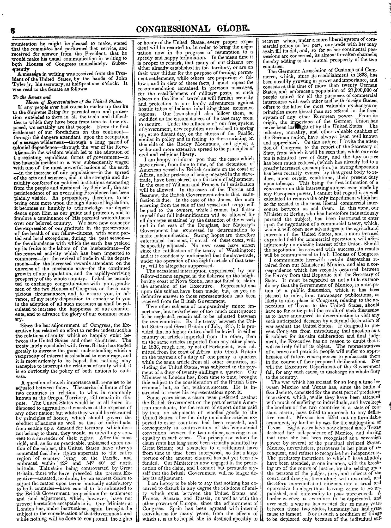 The Congressional Globe, Volume 13, Part 1: Twenty-Eighth Congress, First Session                                                                                                      6