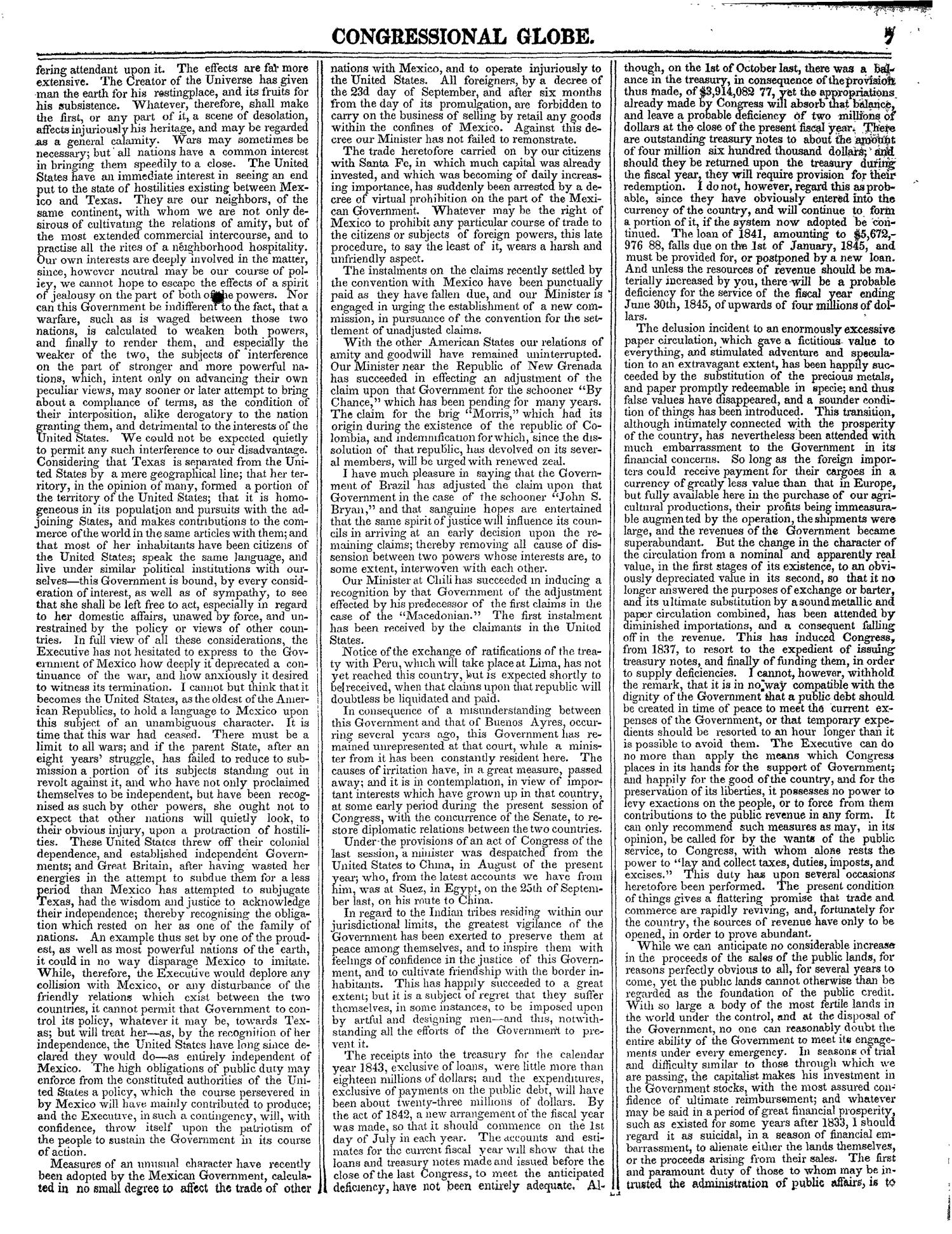 The Congressional Globe, Volume 13, Part 1: Twenty-Eighth Congress, First Session                                                                                                      7
