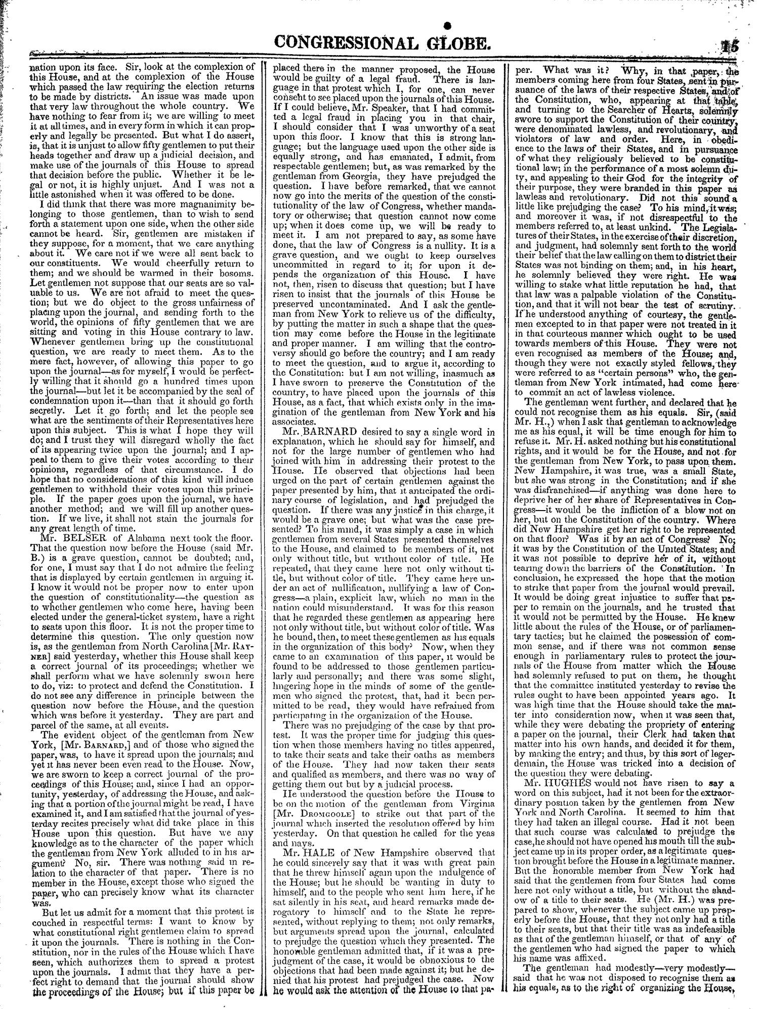 The Congressional Globe, Volume 13, Part 1: Twenty-Eighth Congress, First Session                                                                                                      15