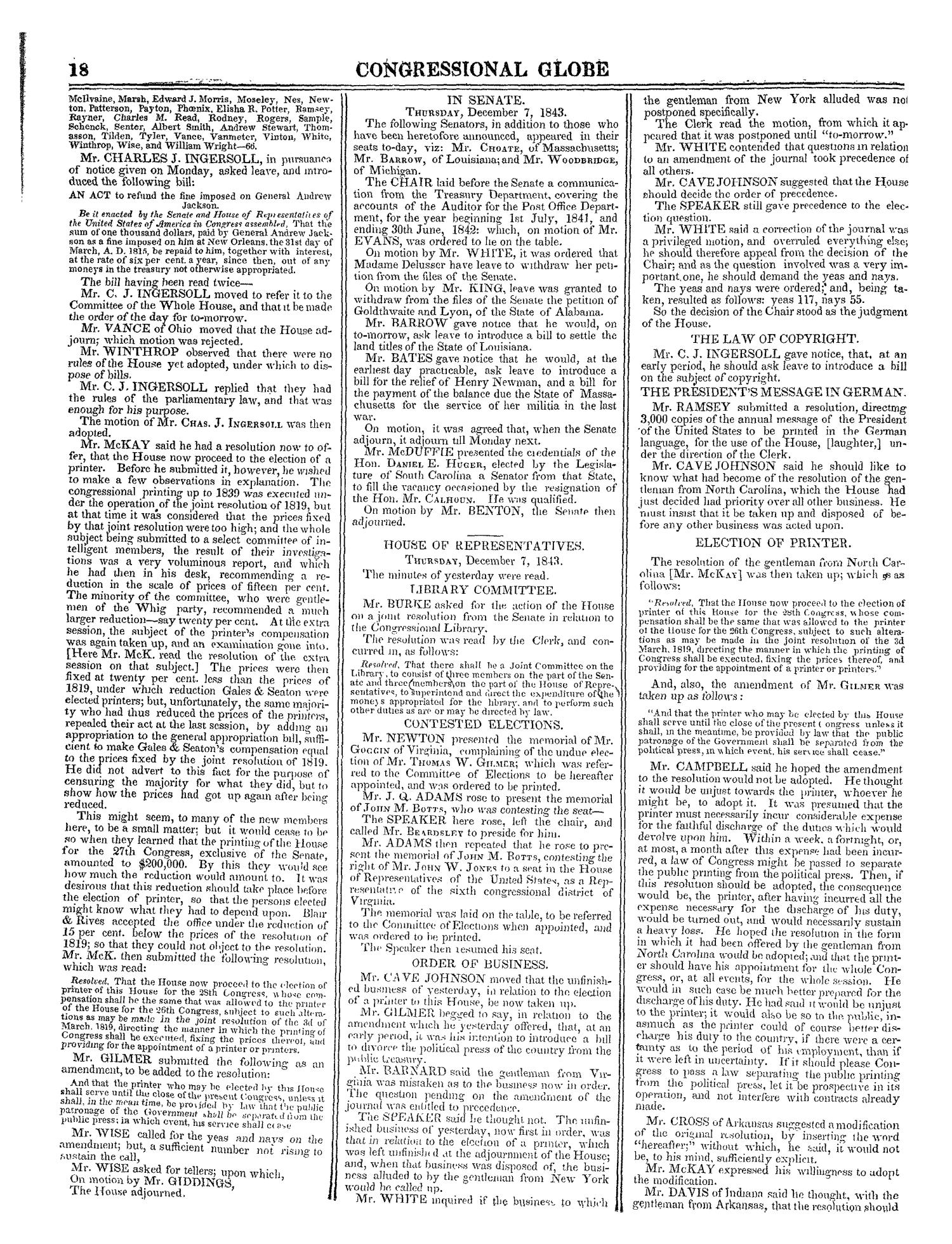 The Congressional Globe, Volume 13, Part 1: Twenty-Eighth Congress, First Session                                                                                                      18