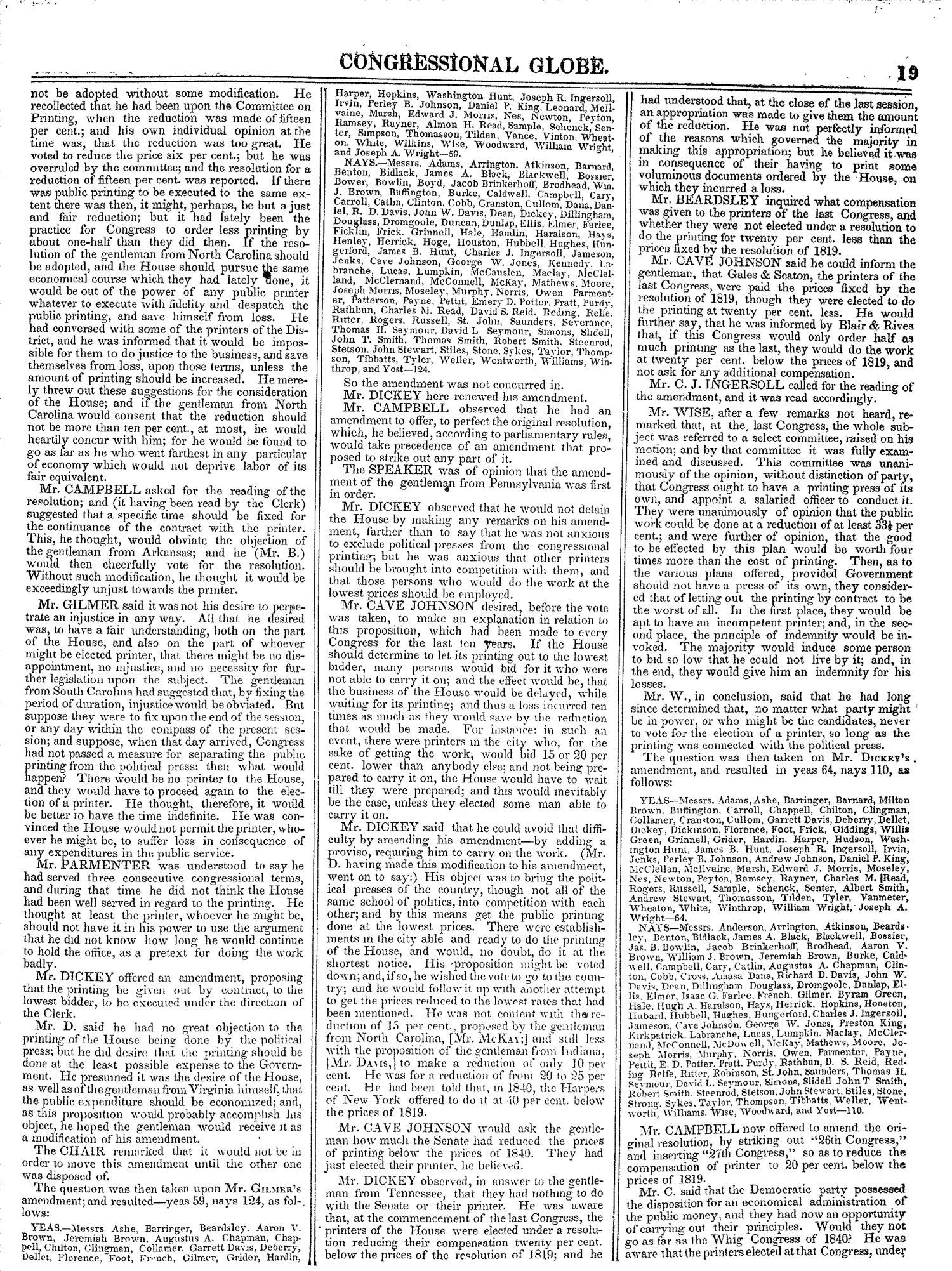 The Congressional Globe, Volume 13, Part 1: Twenty-Eighth Congress, First Session                                                                                                      19