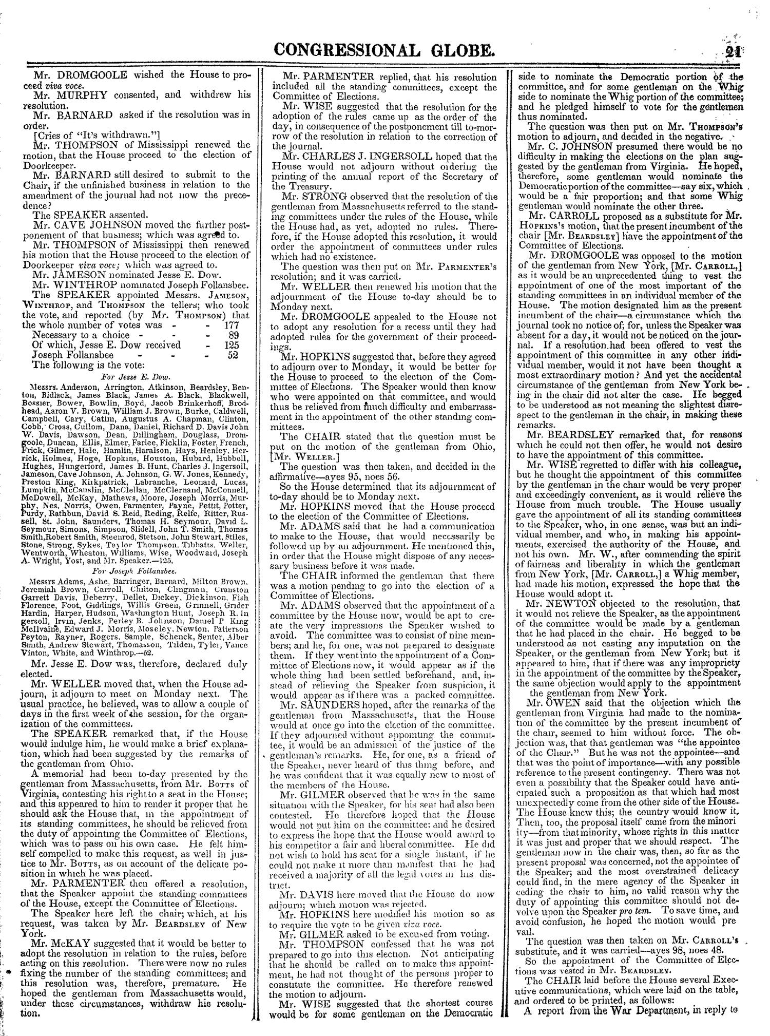 The Congressional Globe, Volume 13, Part 1: Twenty-Eighth Congress, First Session                                                                                                      21