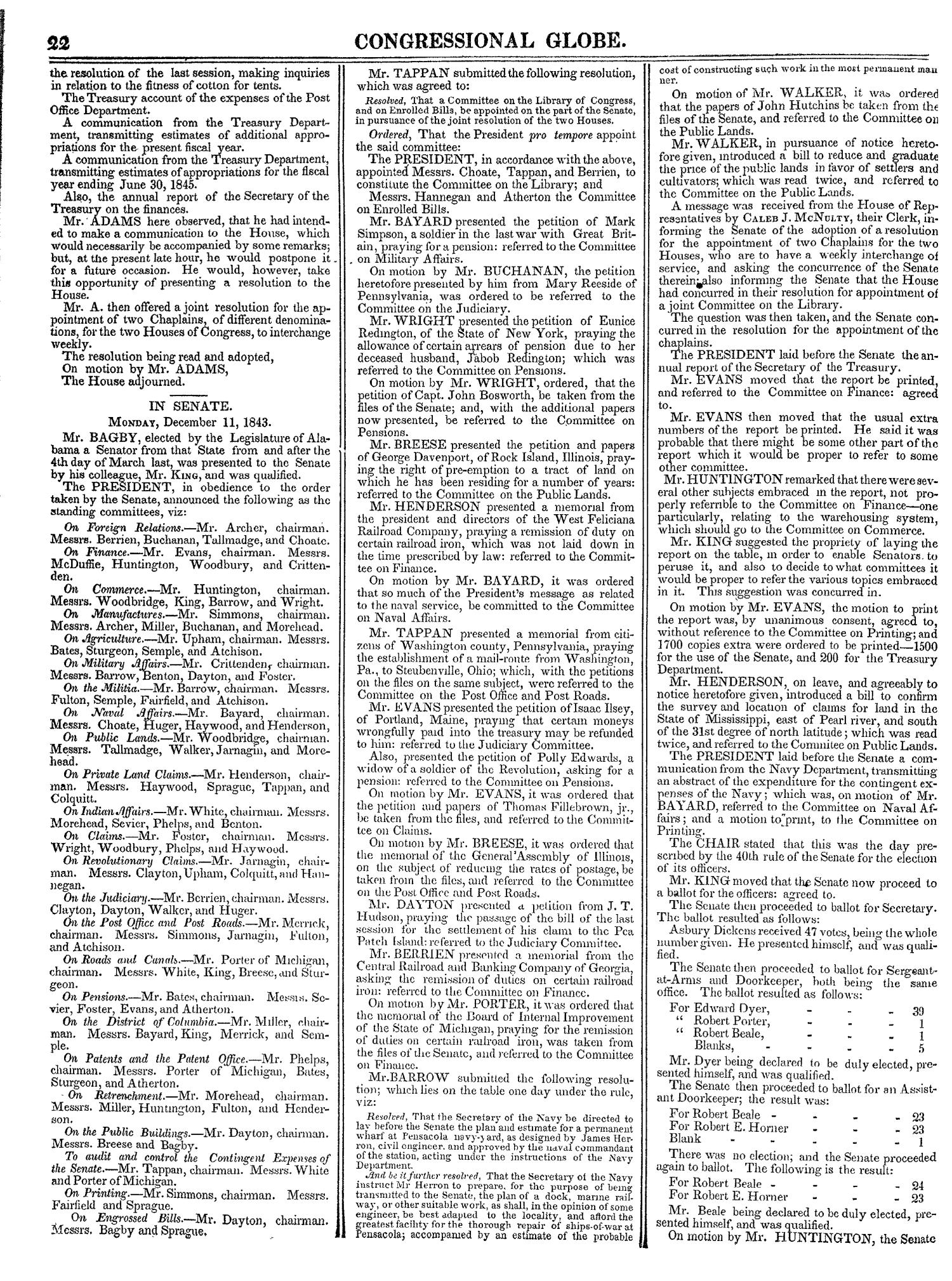 The Congressional Globe, Volume 13, Part 1: Twenty-Eighth Congress, First Session                                                                                                      22
