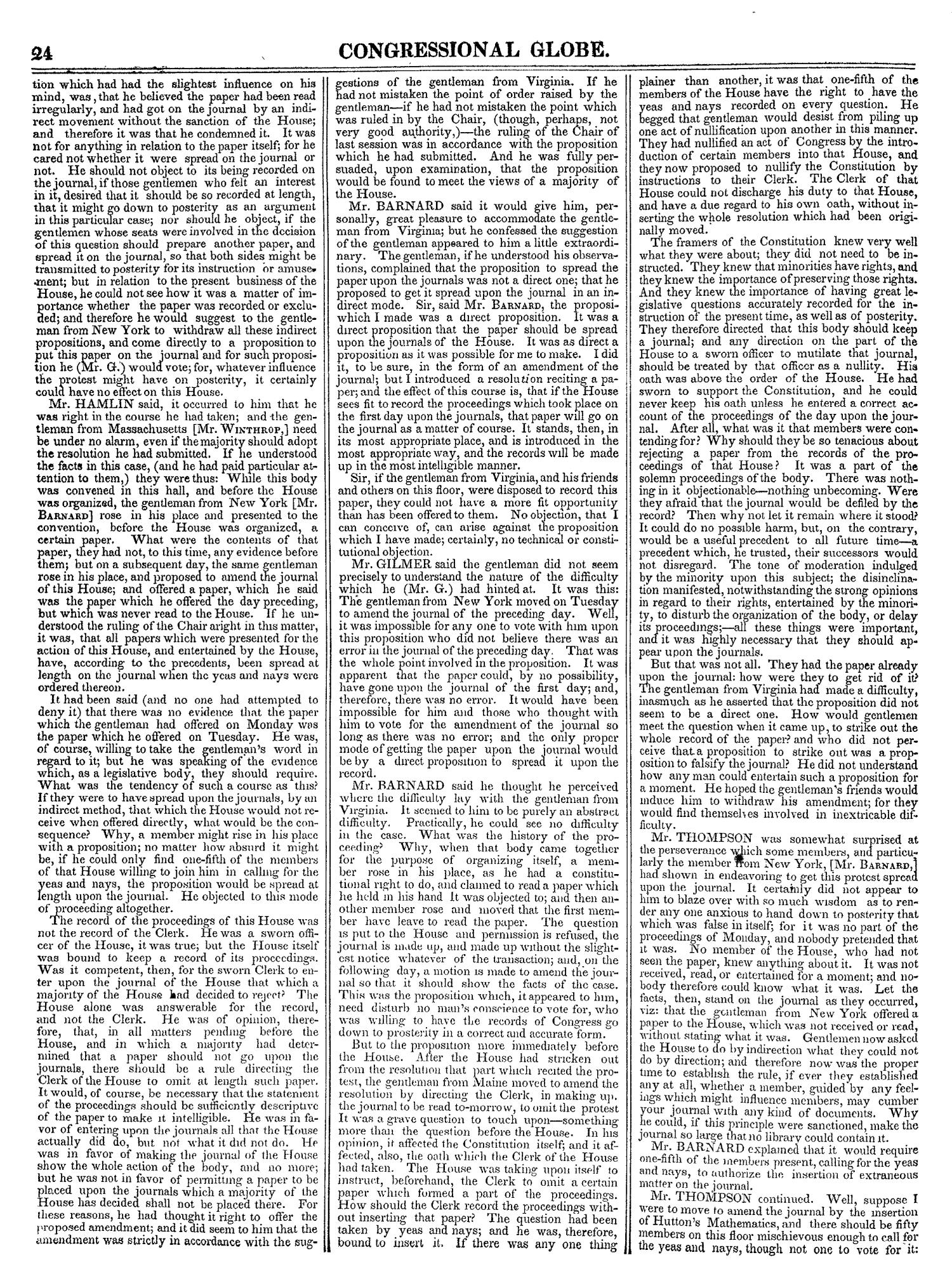 The Congressional Globe, Volume 13, Part 1: Twenty-Eighth Congress, First Session                                                                                                      24
