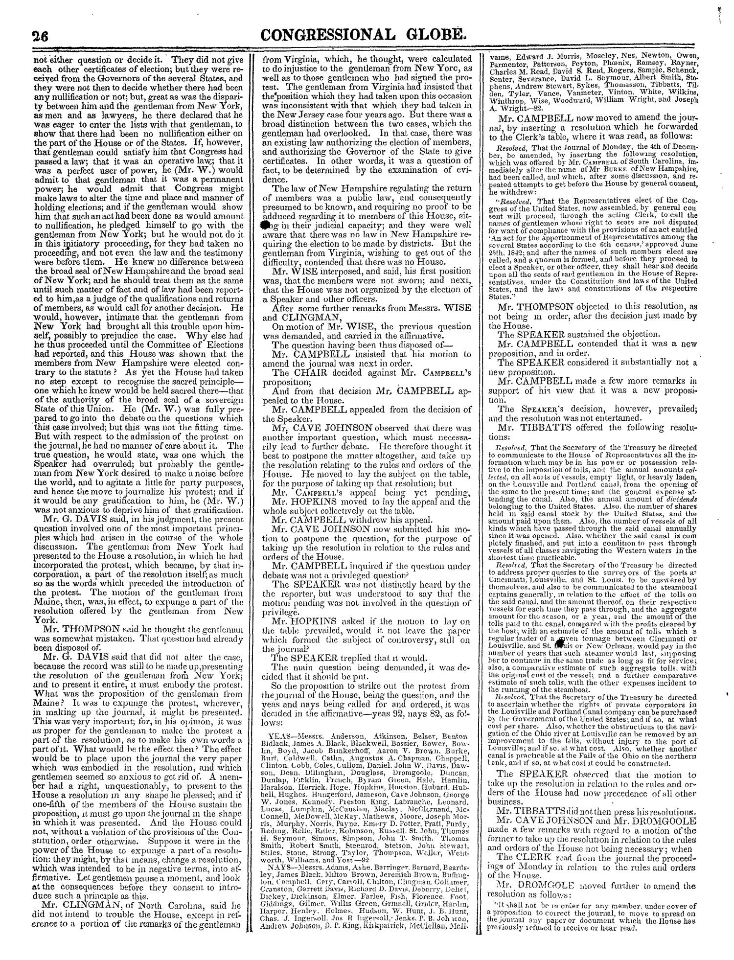 The Congressional Globe, Volume 13, Part 1: Twenty-Eighth Congress, First Session                                                                                                      26