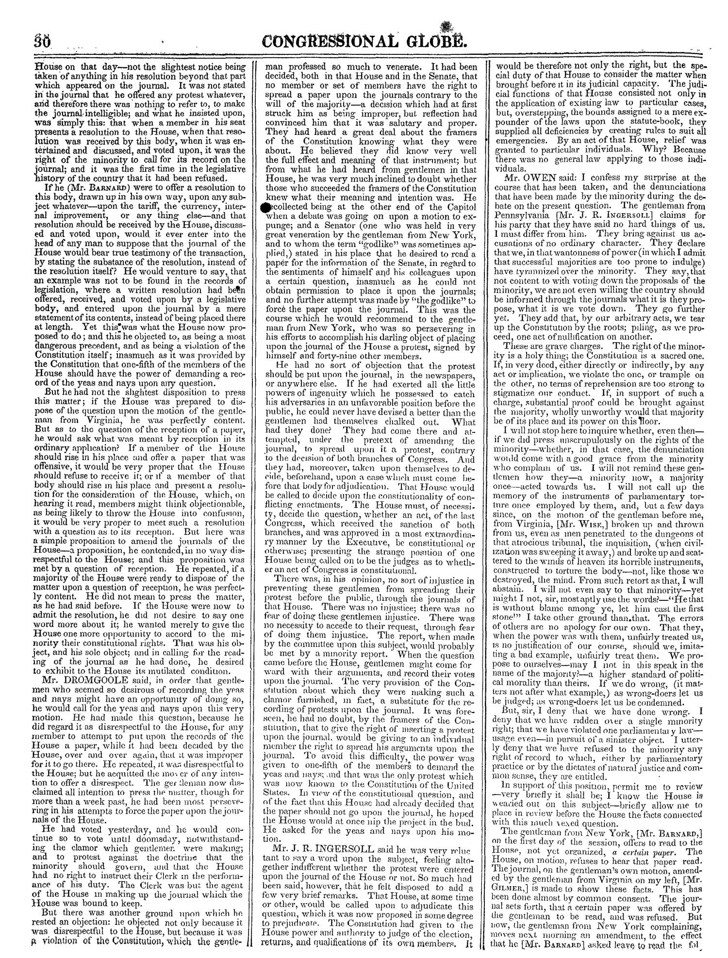 The Congressional Globe, Volume 13, Part 1: Twenty-Eighth Congress, First Session                                                                                                      30