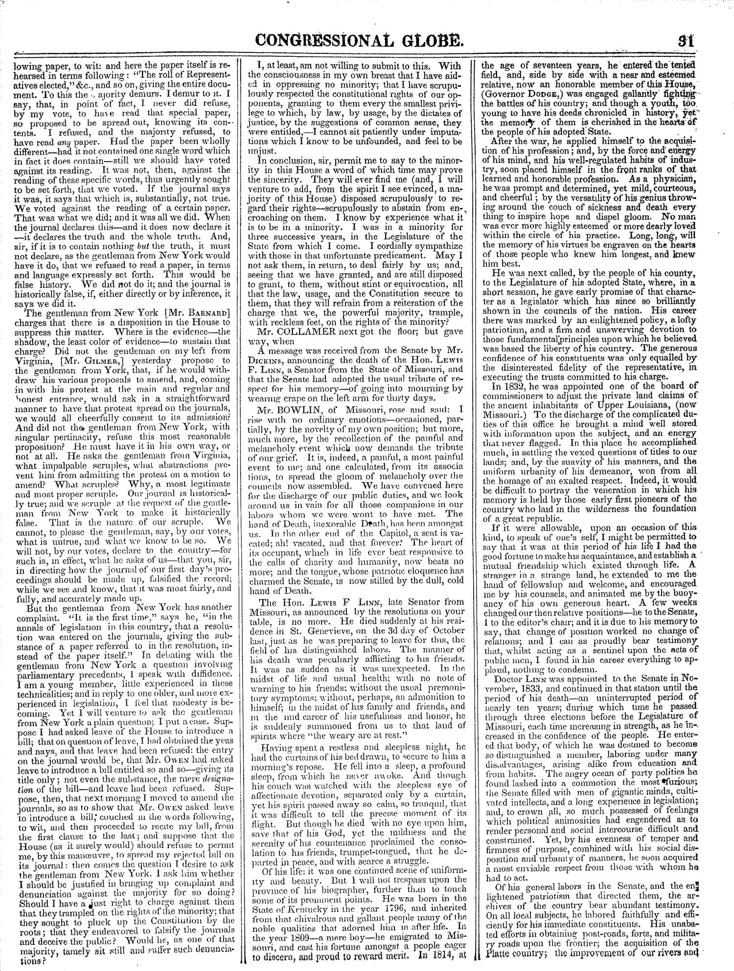 The Congressional Globe, Volume 13, Part 1: Twenty-Eighth Congress, First Session                                                                                                      31