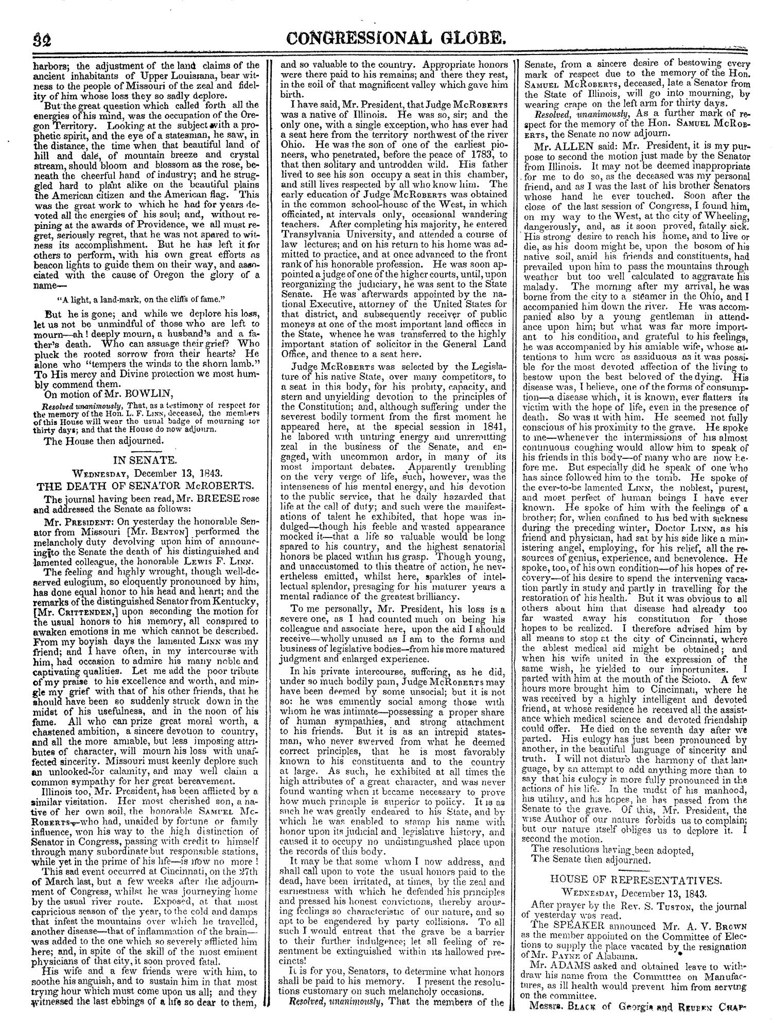 The Congressional Globe, Volume 13, Part 1: Twenty-Eighth Congress, First Session                                                                                                      32