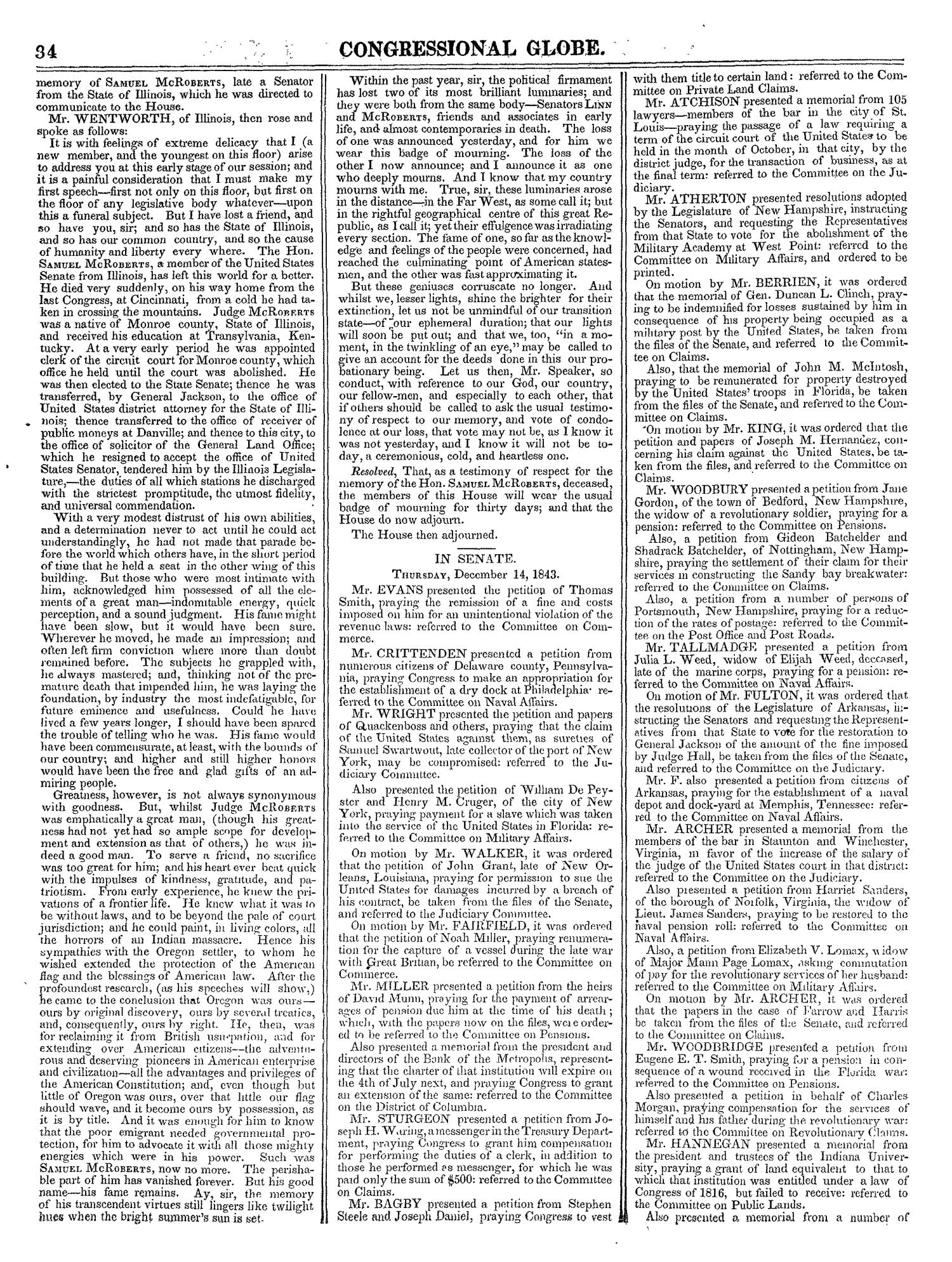 The Congressional Globe, Volume 13, Part 1: Twenty-Eighth Congress, First Session                                                                                                      34