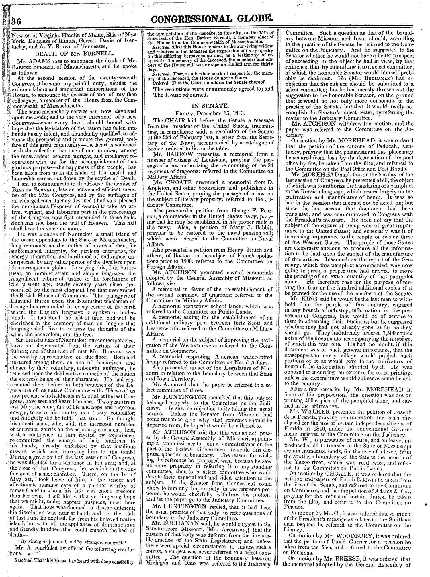The Congressional Globe, Volume 13, Part 1: Twenty-Eighth Congress, First Session                                                                                                      36