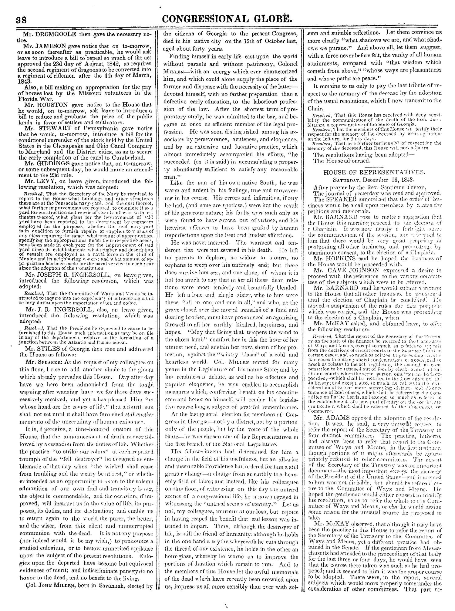 The Congressional Globe, Volume 13, Part 1: Twenty-Eighth Congress, First Session                                                                                                      38