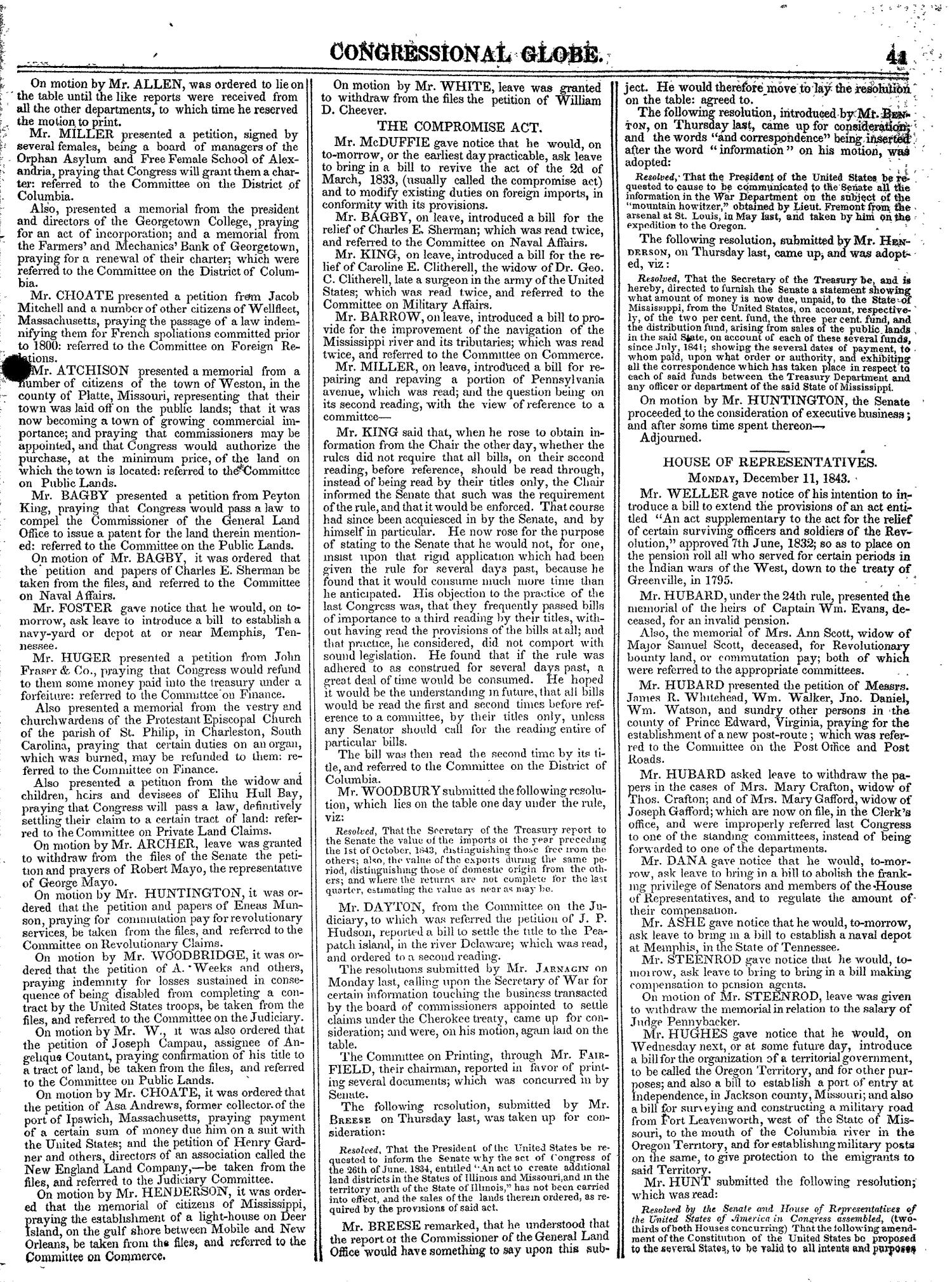 The Congressional Globe, Volume 13, Part 1: Twenty-Eighth Congress, First Session                                                                                                      41