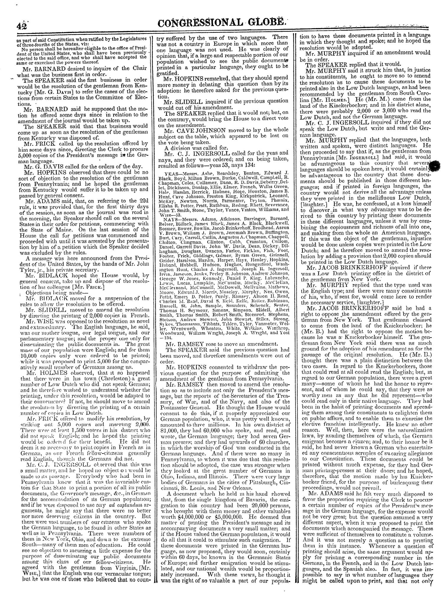 The Congressional Globe, Volume 13, Part 1: Twenty-Eighth Congress, First Session                                                                                                      42