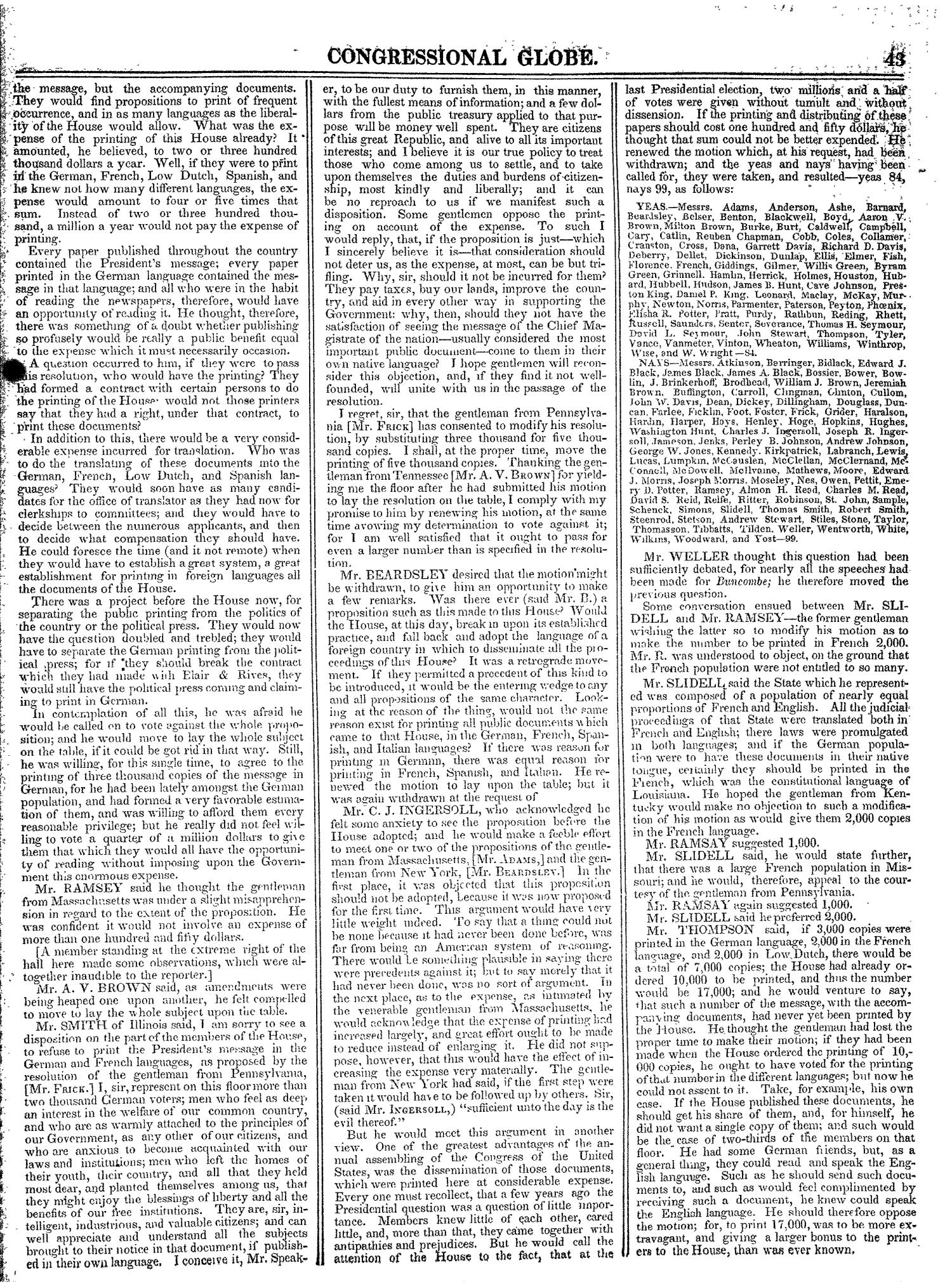 The Congressional Globe, Volume 13, Part 1: Twenty-Eighth Congress, First Session                                                                                                      43