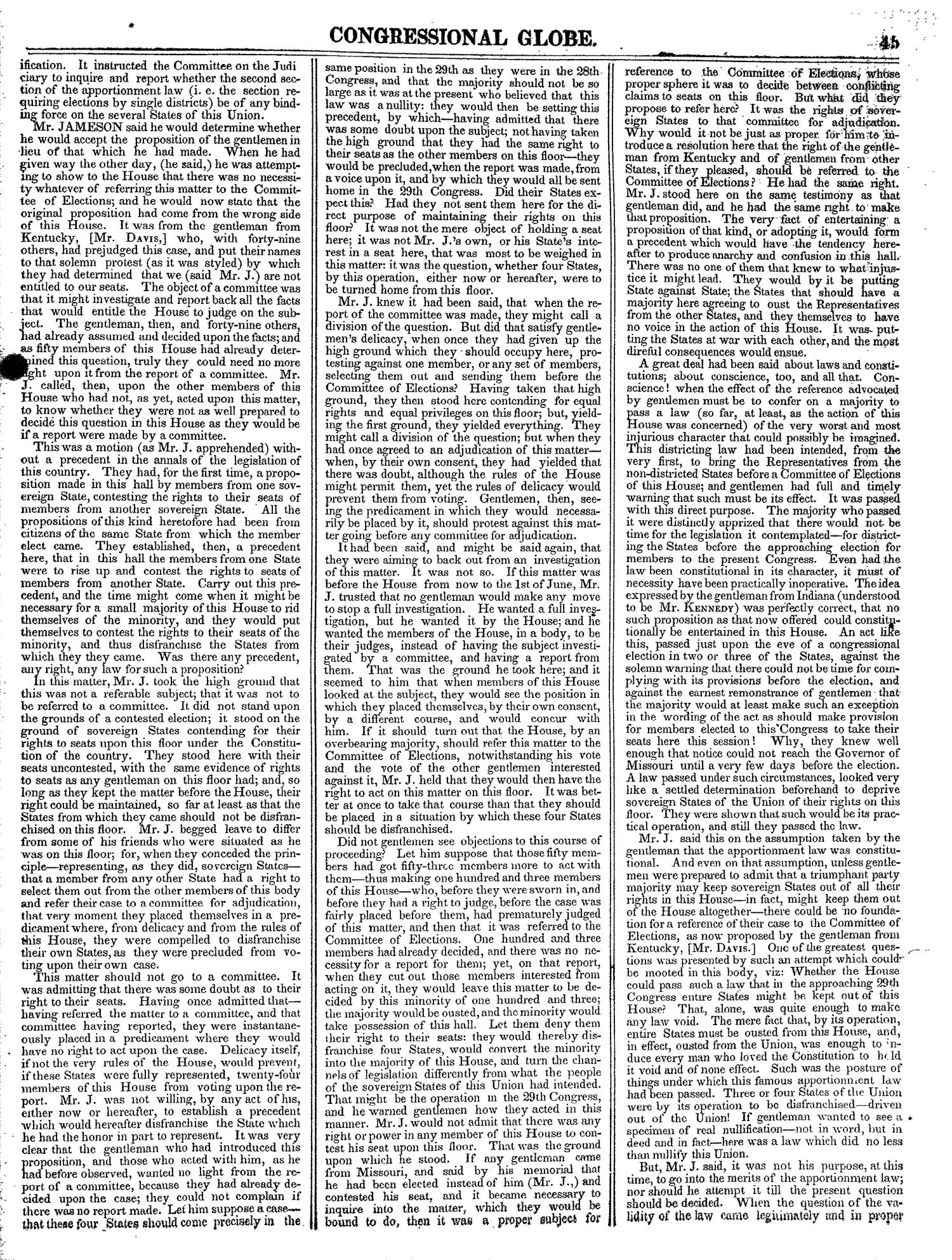 The Congressional Globe, Volume 13, Part 1: Twenty-Eighth Congress, First Session                                                                                                      45