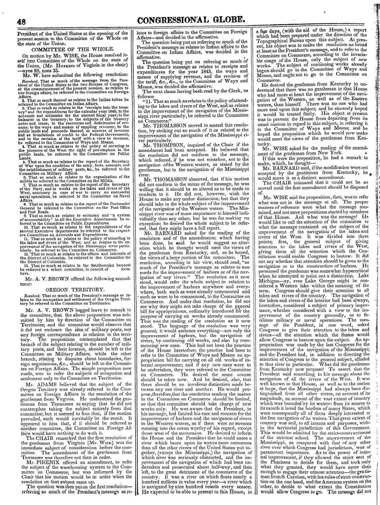 The Congressional Globe, Volume 13, Part 1: Twenty-Eighth Congress, First Session                                                                                                      48