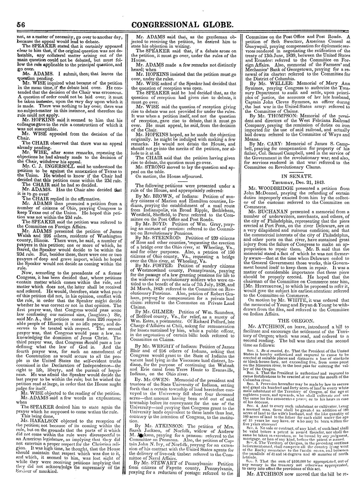 The Congressional Globe, Volume 13, Part 1: Twenty-Eighth Congress, First Session                                                                                                      56