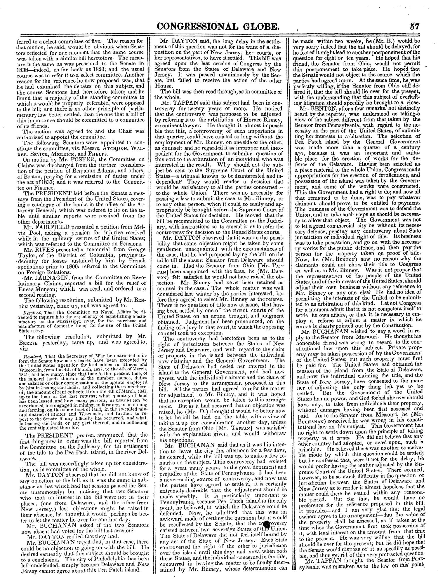The Congressional Globe, Volume 13, Part 1: Twenty-Eighth Congress, First Session                                                                                                      57