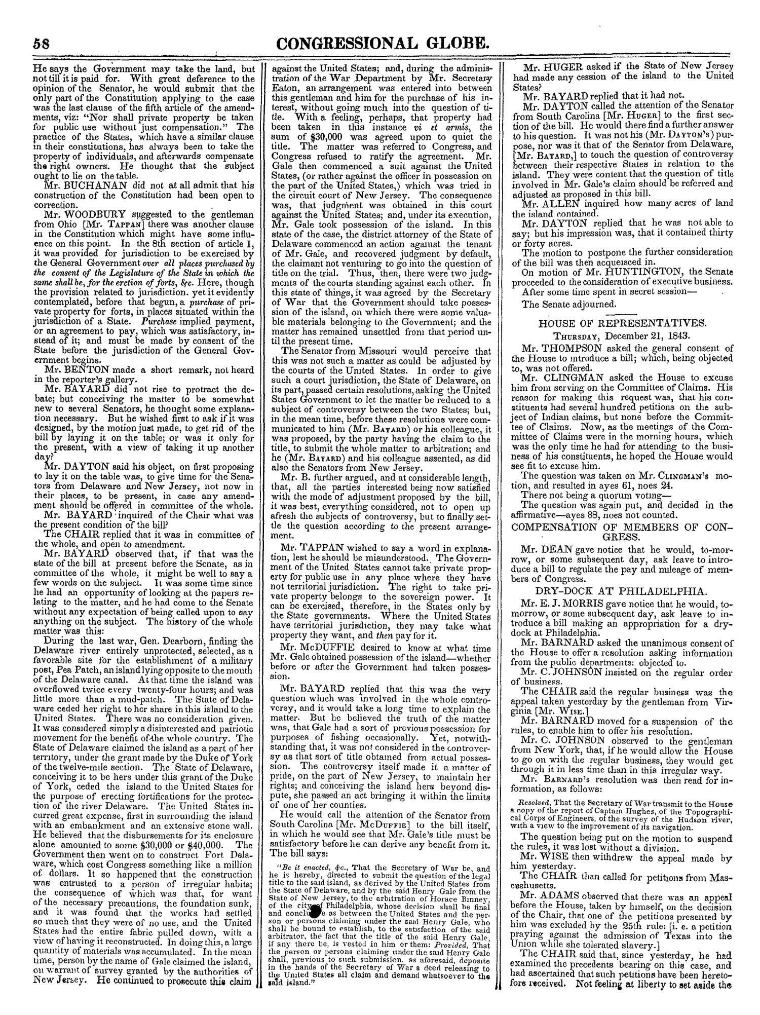 The Congressional Globe, Volume 13, Part 1: Twenty-Eighth Congress, First Session                                                                                                      58