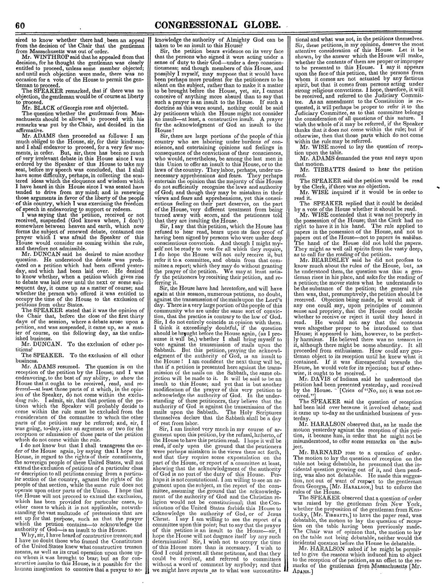The Congressional Globe, Volume 13, Part 1: Twenty-Eighth Congress, First Session                                                                                                      60