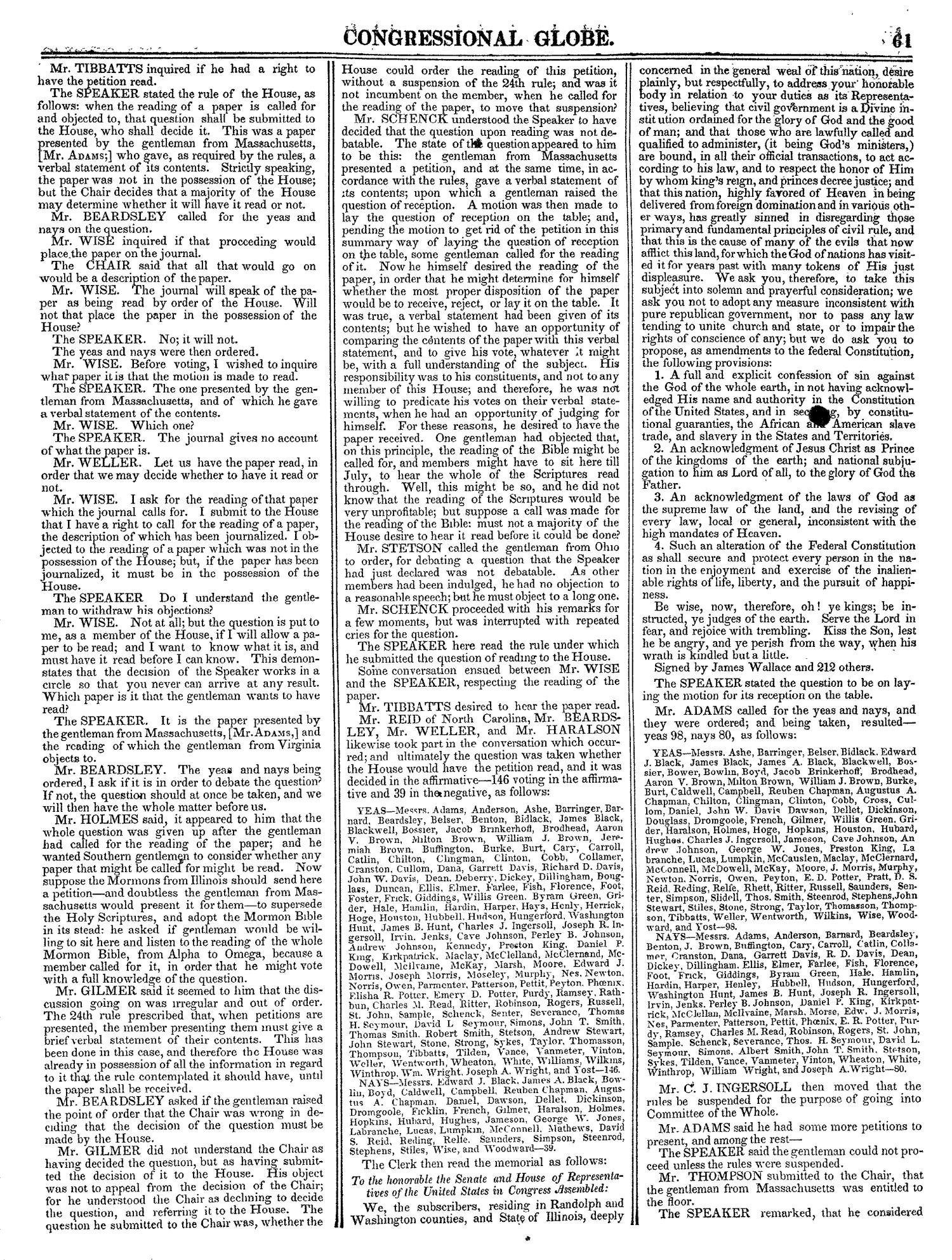 The Congressional Globe, Volume 13, Part 1: Twenty-Eighth Congress, First Session                                                                                                      61