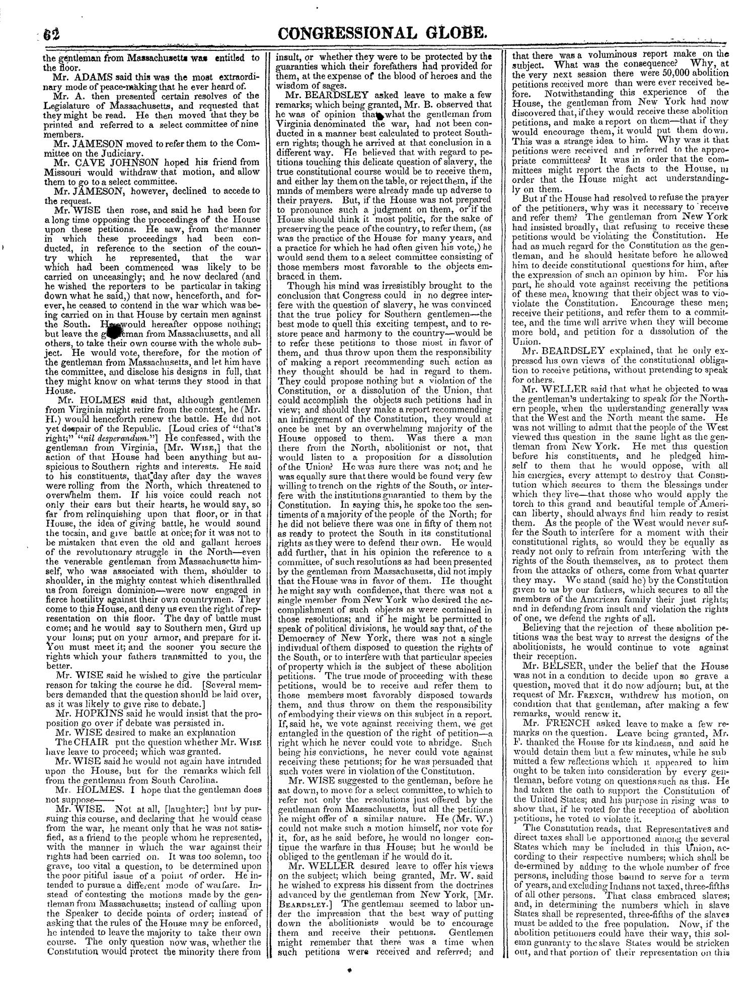 The Congressional Globe, Volume 13, Part 1: Twenty-Eighth Congress, First Session                                                                                                      62