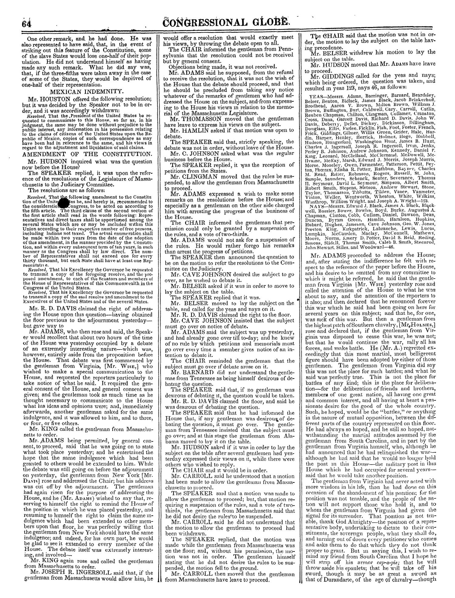 The Congressional Globe, Volume 13, Part 1: Twenty-Eighth Congress, First Session                                                                                                      64