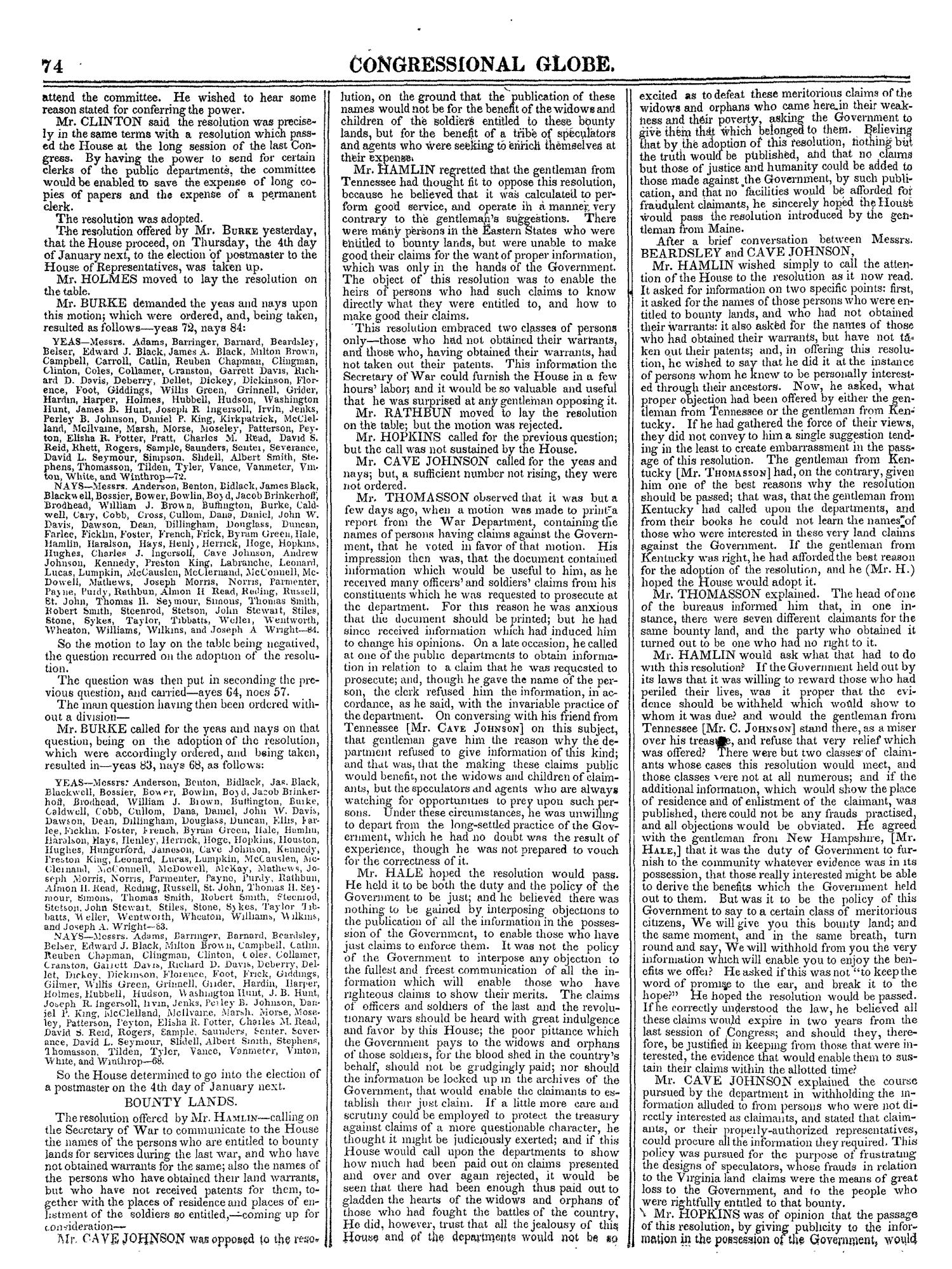 The Congressional Globe, Volume 13, Part 1: Twenty-Eighth Congress, First Session                                                                                                      74
